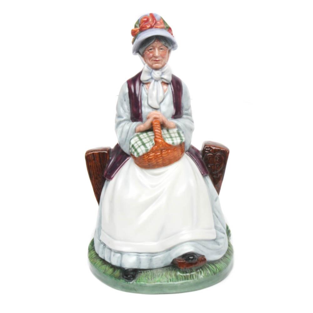 "Royal Doulton Porcelain Figurine ""Rest Awhile"""