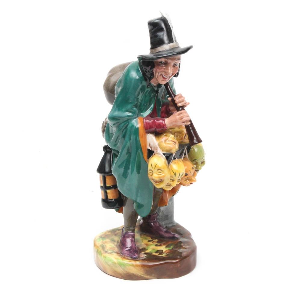 "Royal Doulton Porcelain Figurine ""The Mask Seller"""