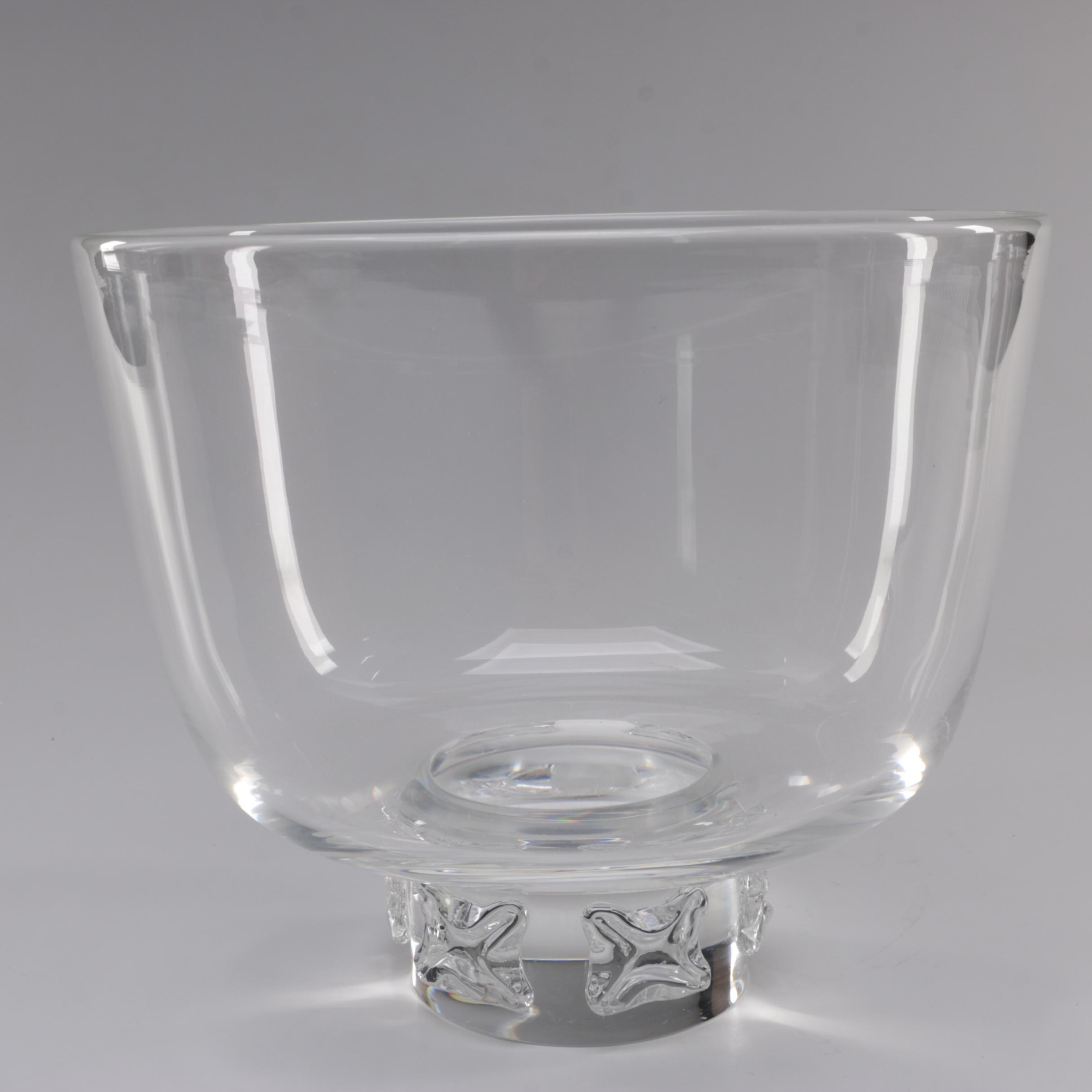 Steuben Art Glass Punch Bowl Designed by Donald Pollard, 1957