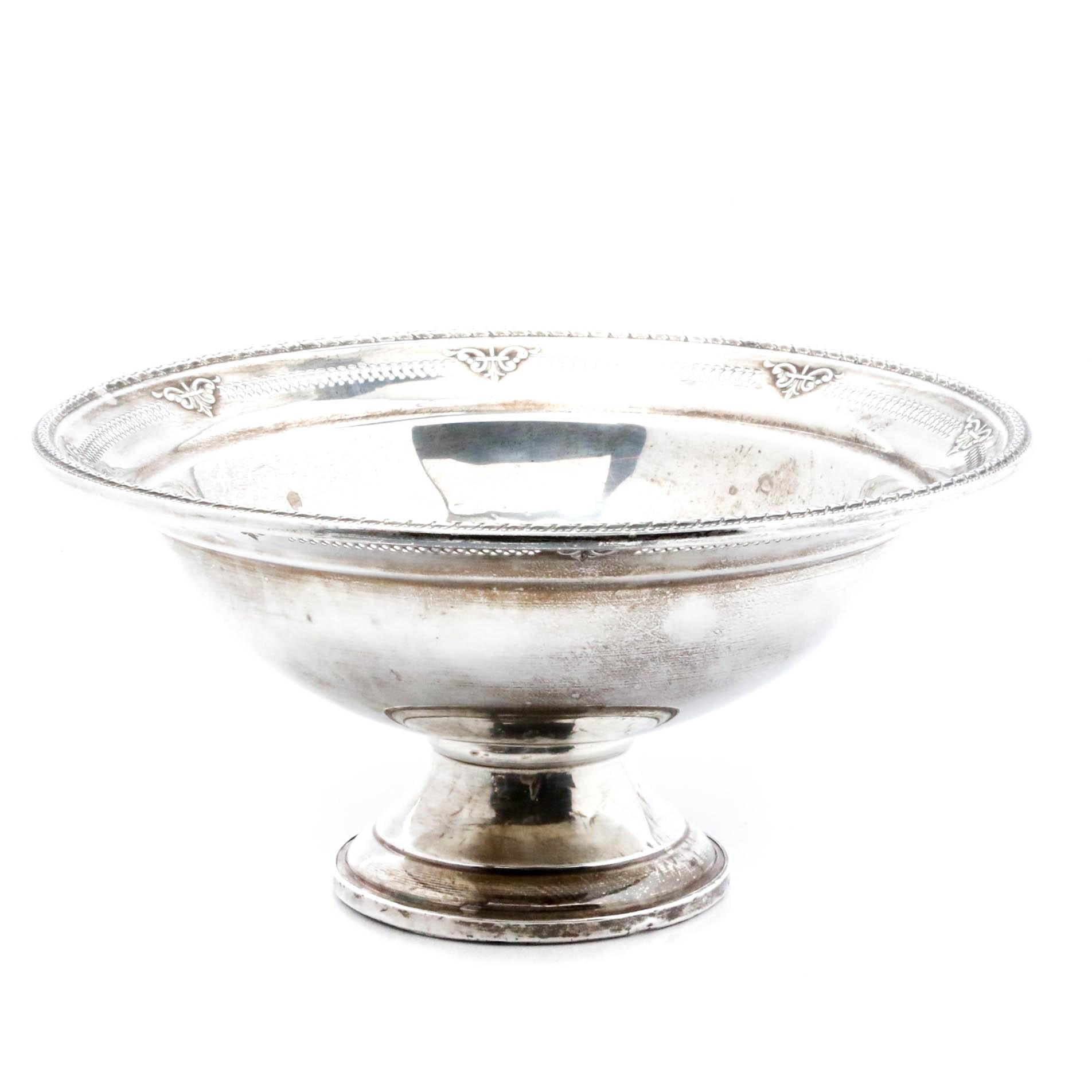 Vintage Hamilton Sterling Silver Footed Serving Bowl
