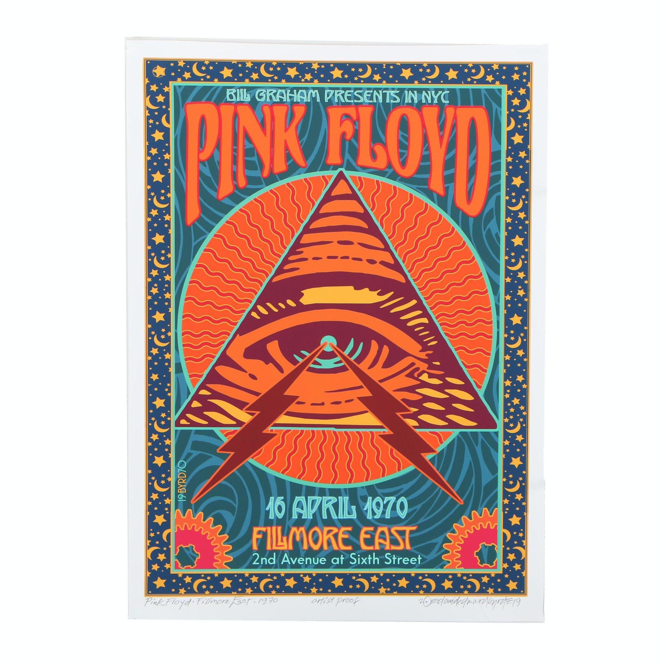 "David Edward Byrd Giclée ""Pink Floyd at the Fillmore East 1989"""
