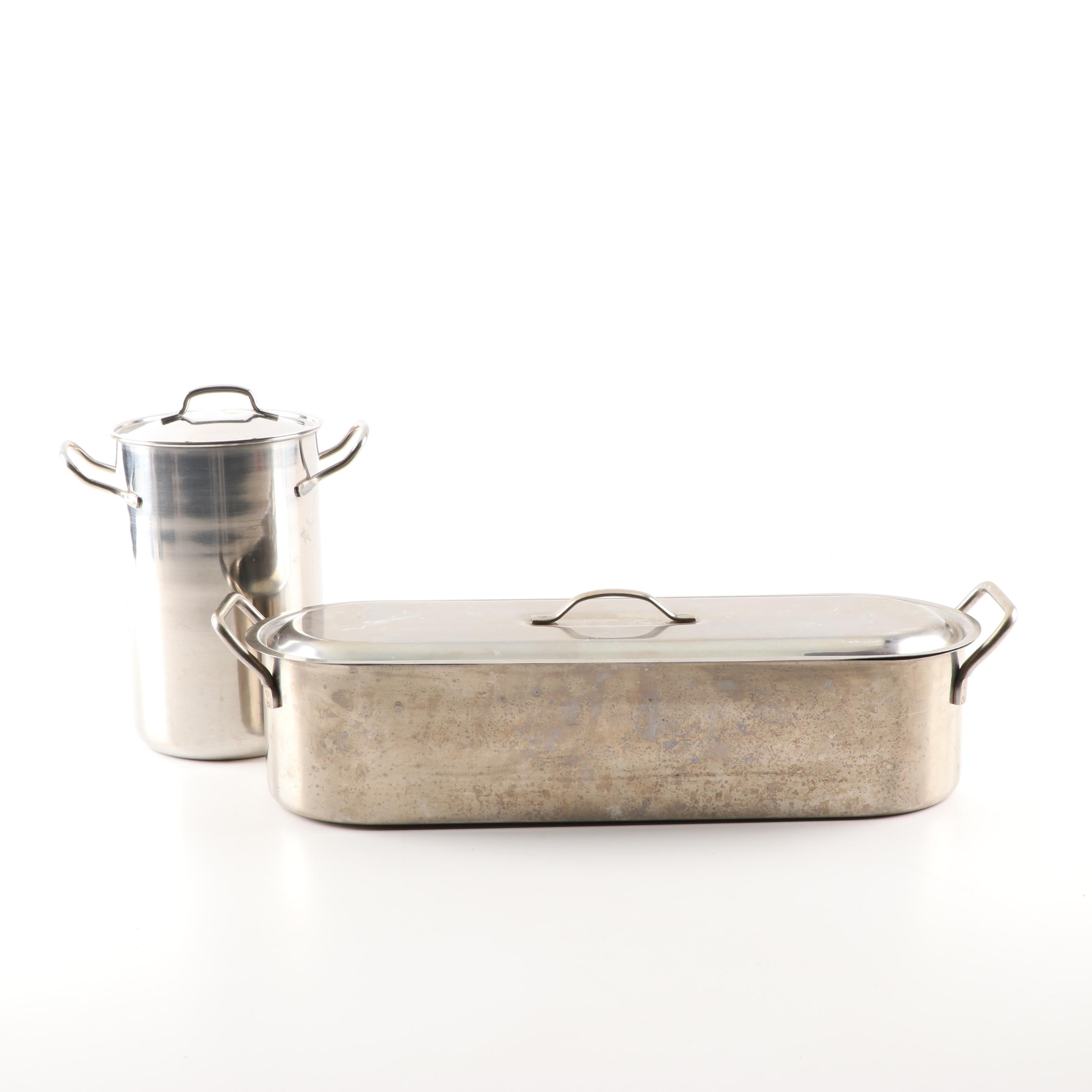 Stainless Steel Fish and Asparagus Steamers
