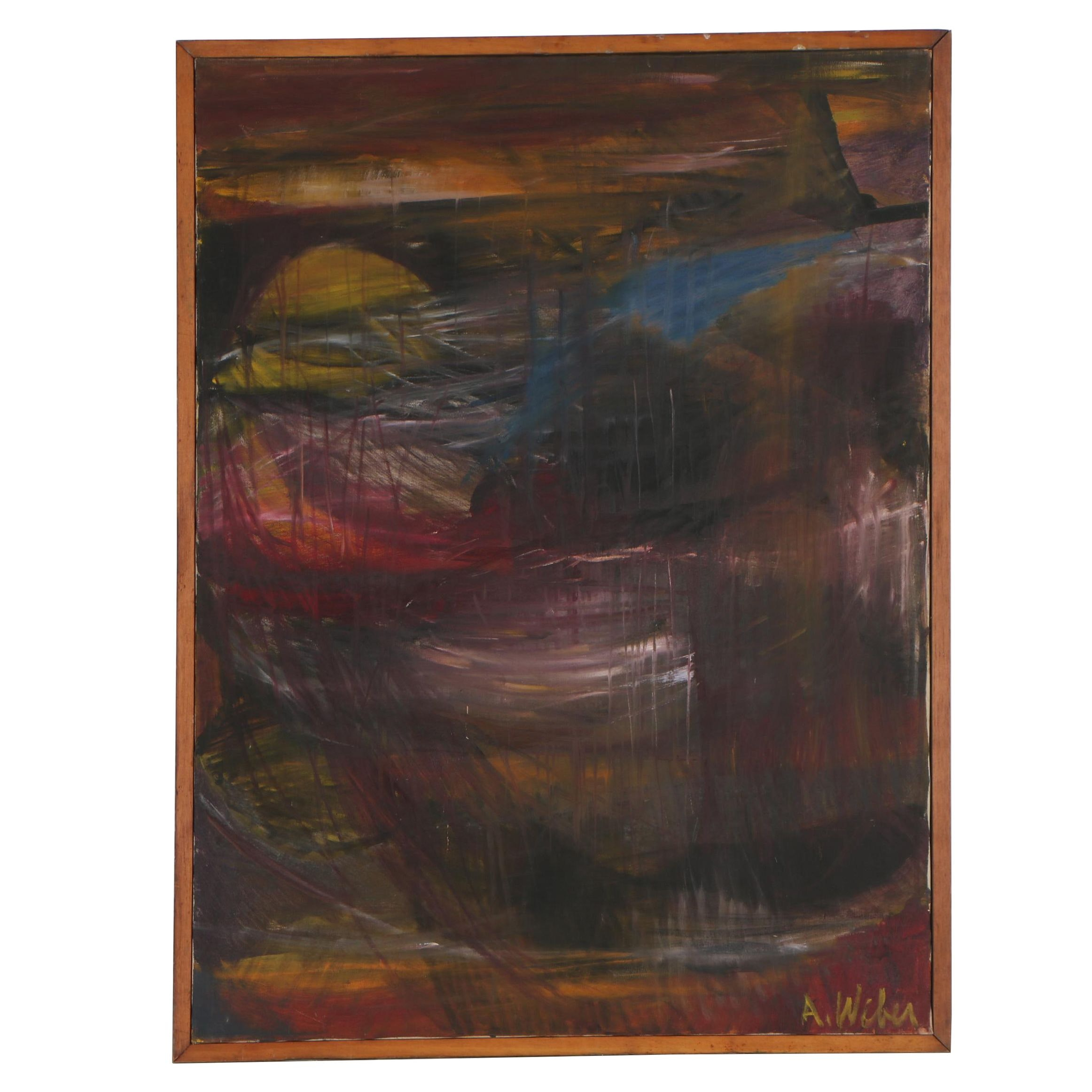 Arnold Weber Abstract Oil Painting
