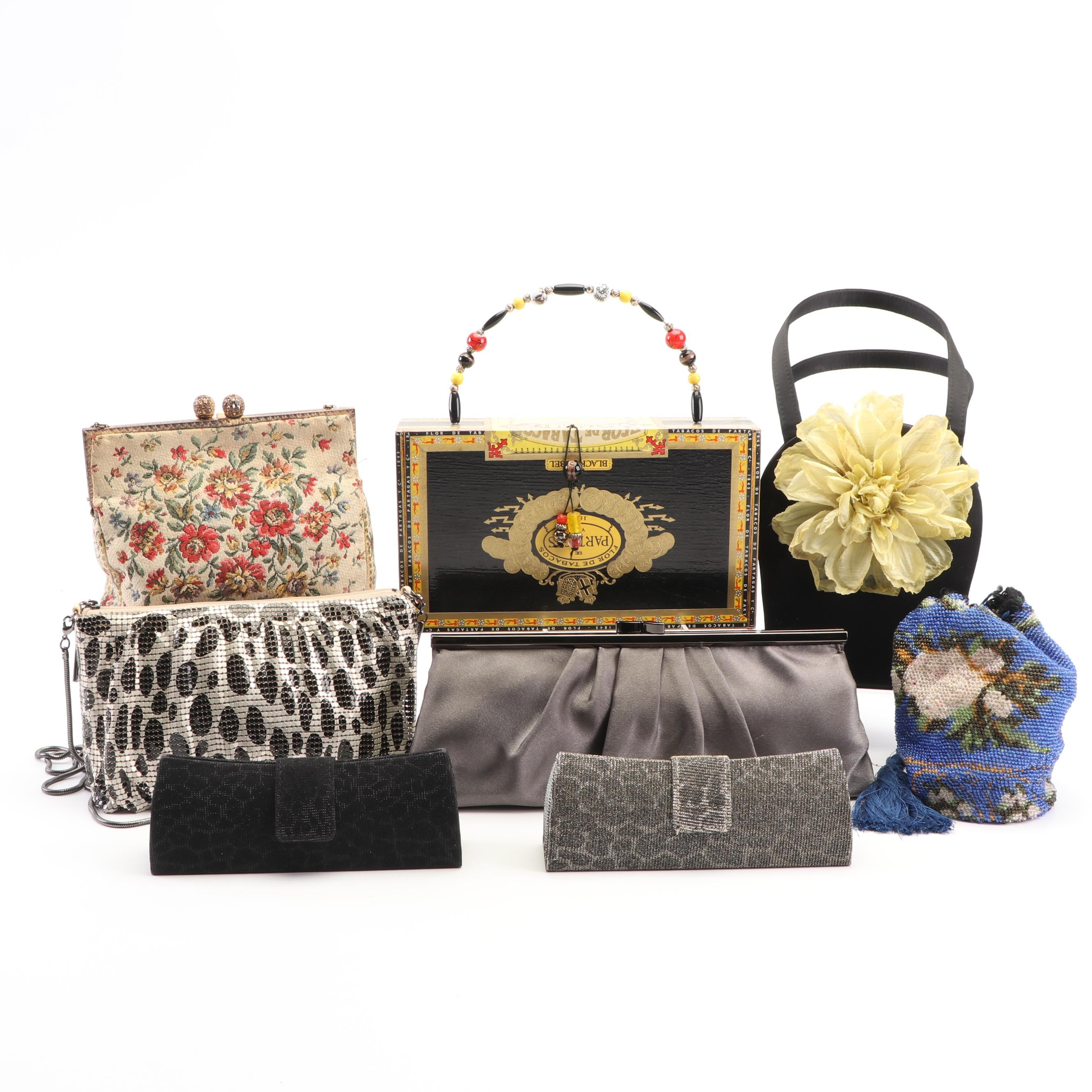 Collection of Evening Bags Including Whiting & Davis, Walborg and Carlo Fellini