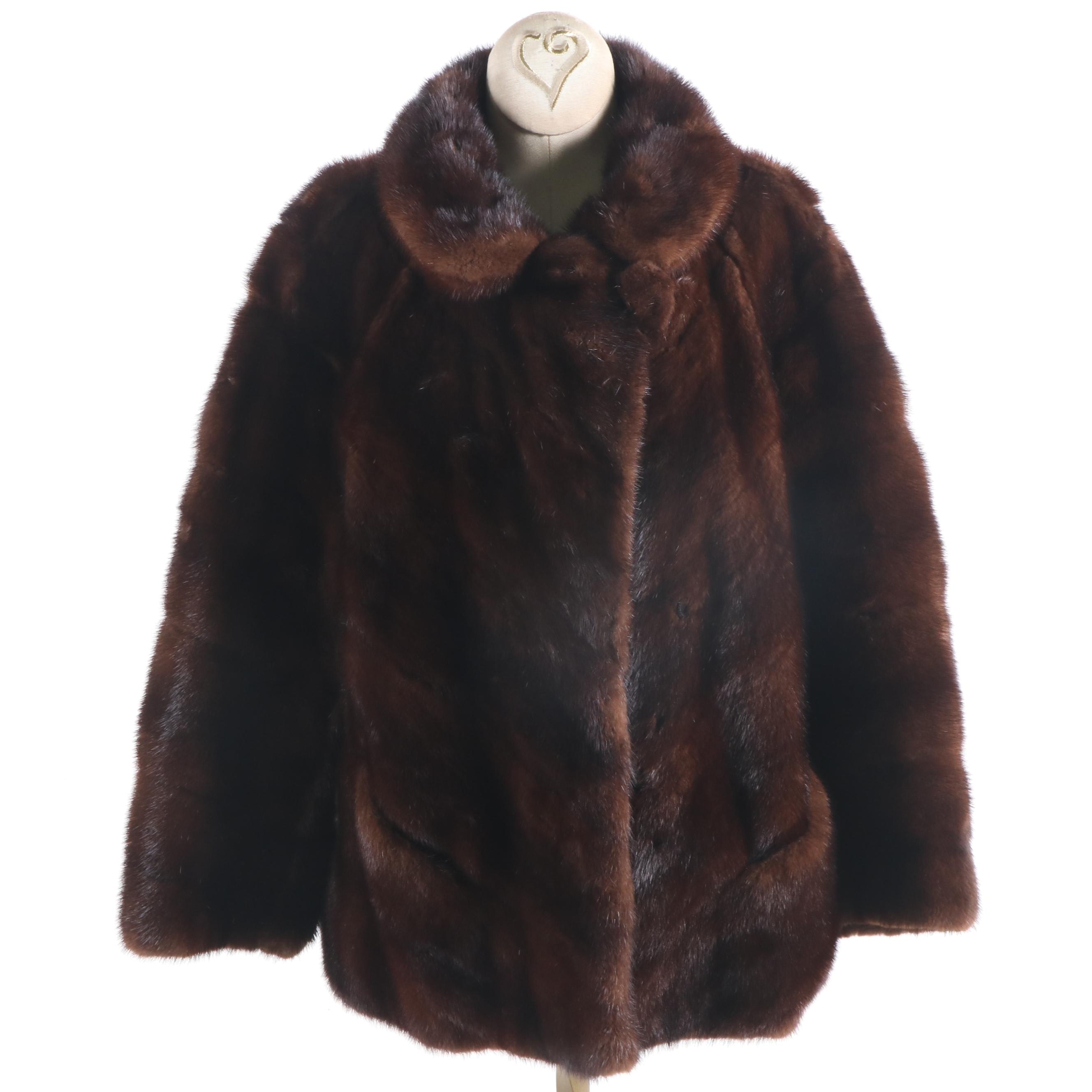 Women's Natural Mahogany Mink Fur Jacket