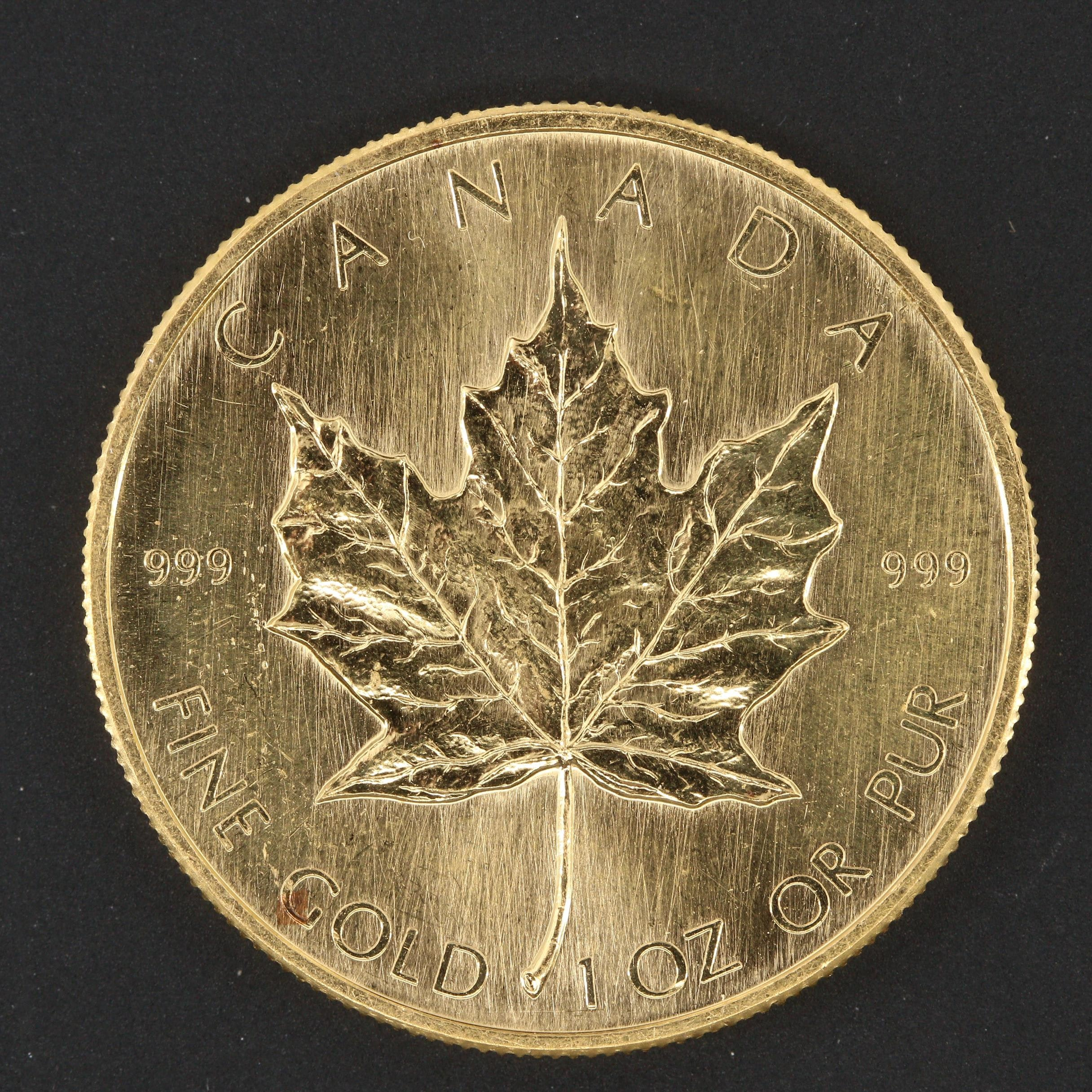 1980 $50 Canadian Gold Maple Leaf