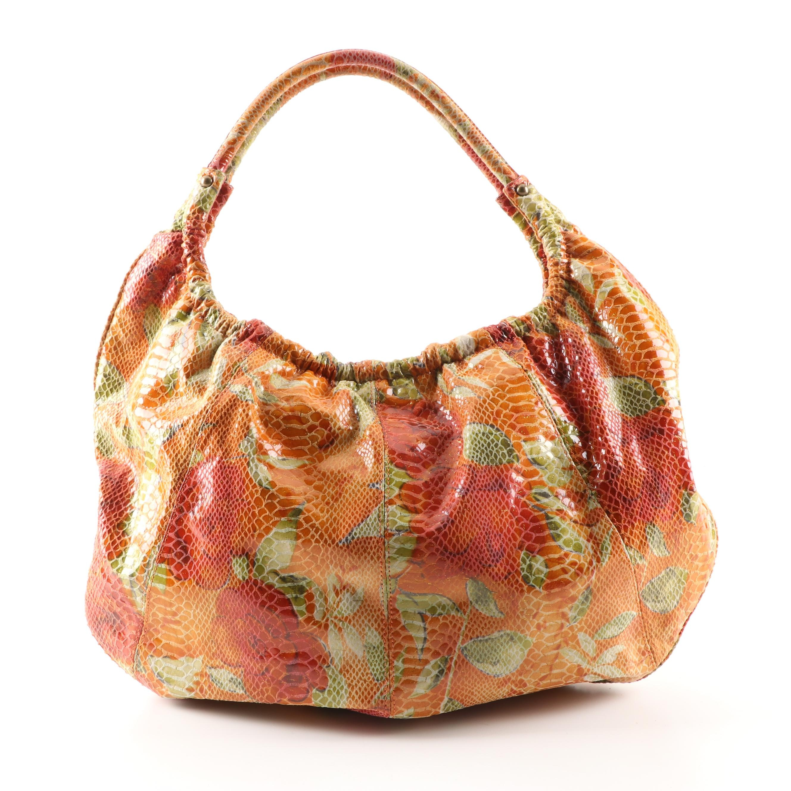 "Hobo International Snakeskin and Floral Print ""Summer Bloom"" Hobo Bag"