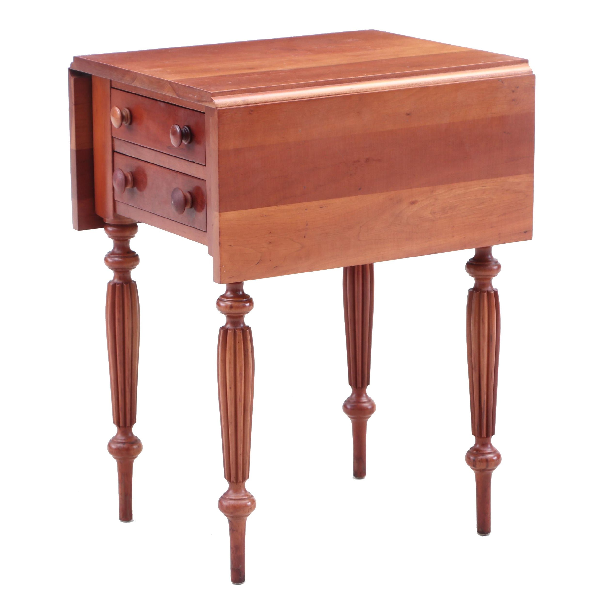 Federal Style Drop Leaf Cherry End Table
