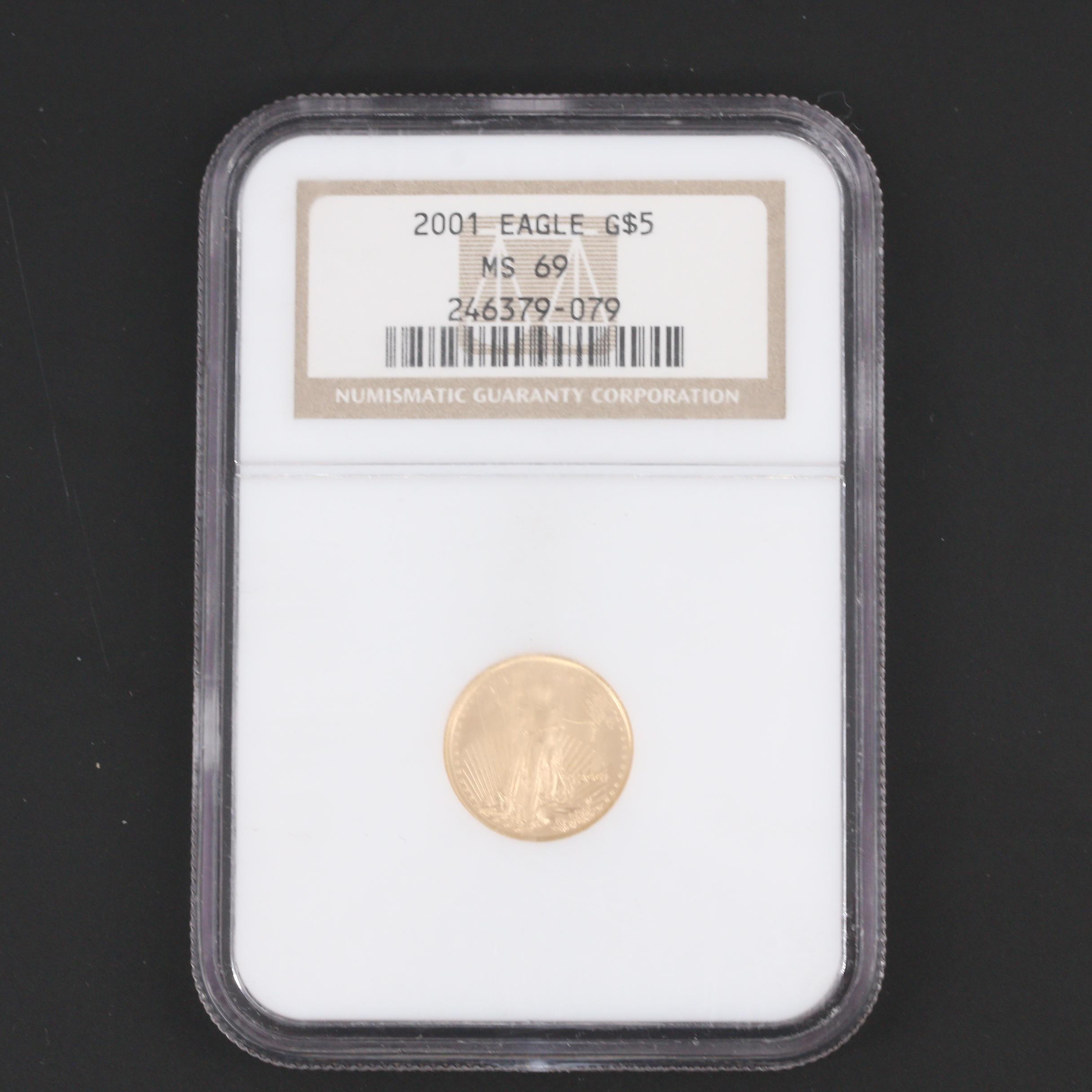 NGC Graded 2001 $5 Gold Eagle 1/10 Oz. Bullion Coin