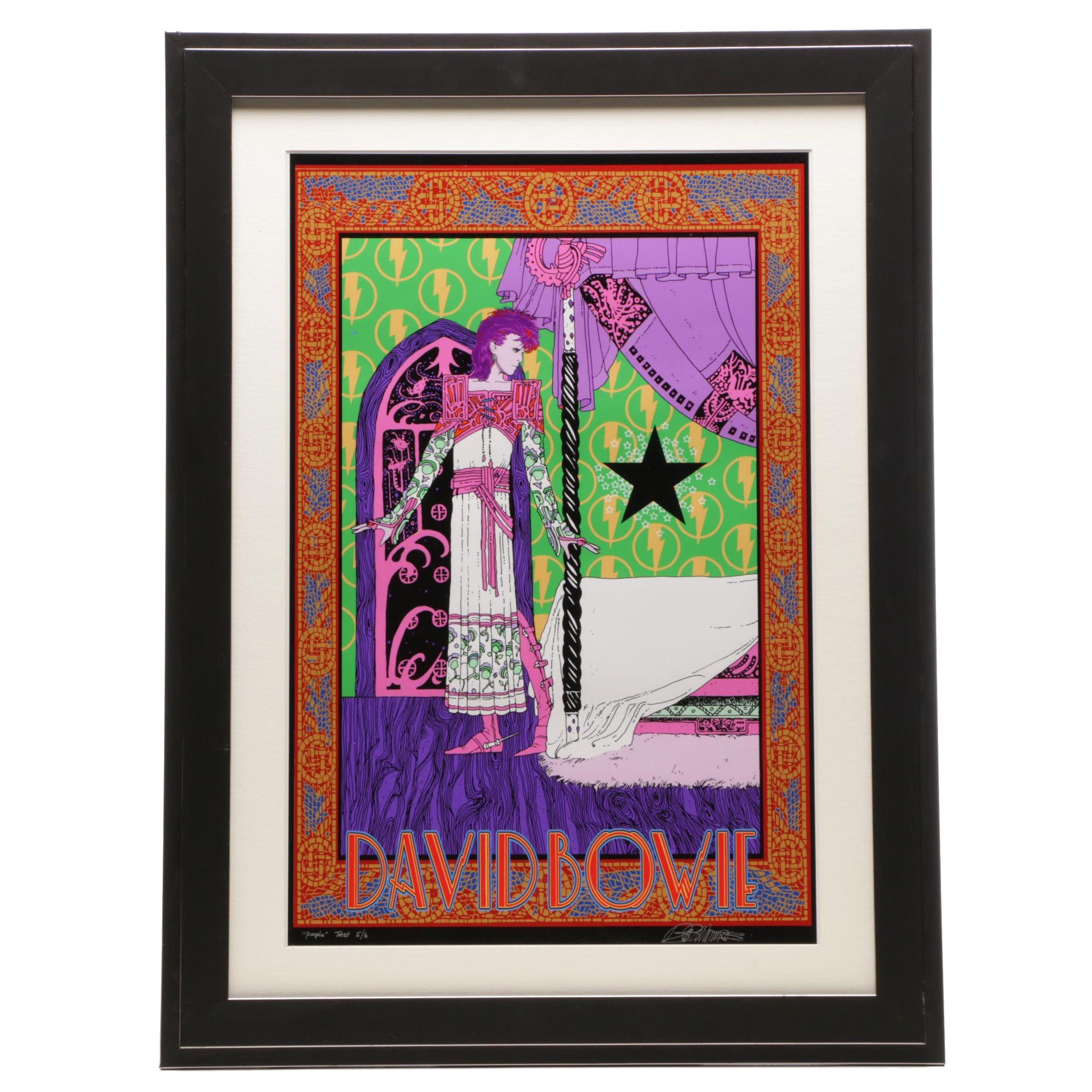 "Bob Masse Giclée ""Starman Purple Test"""