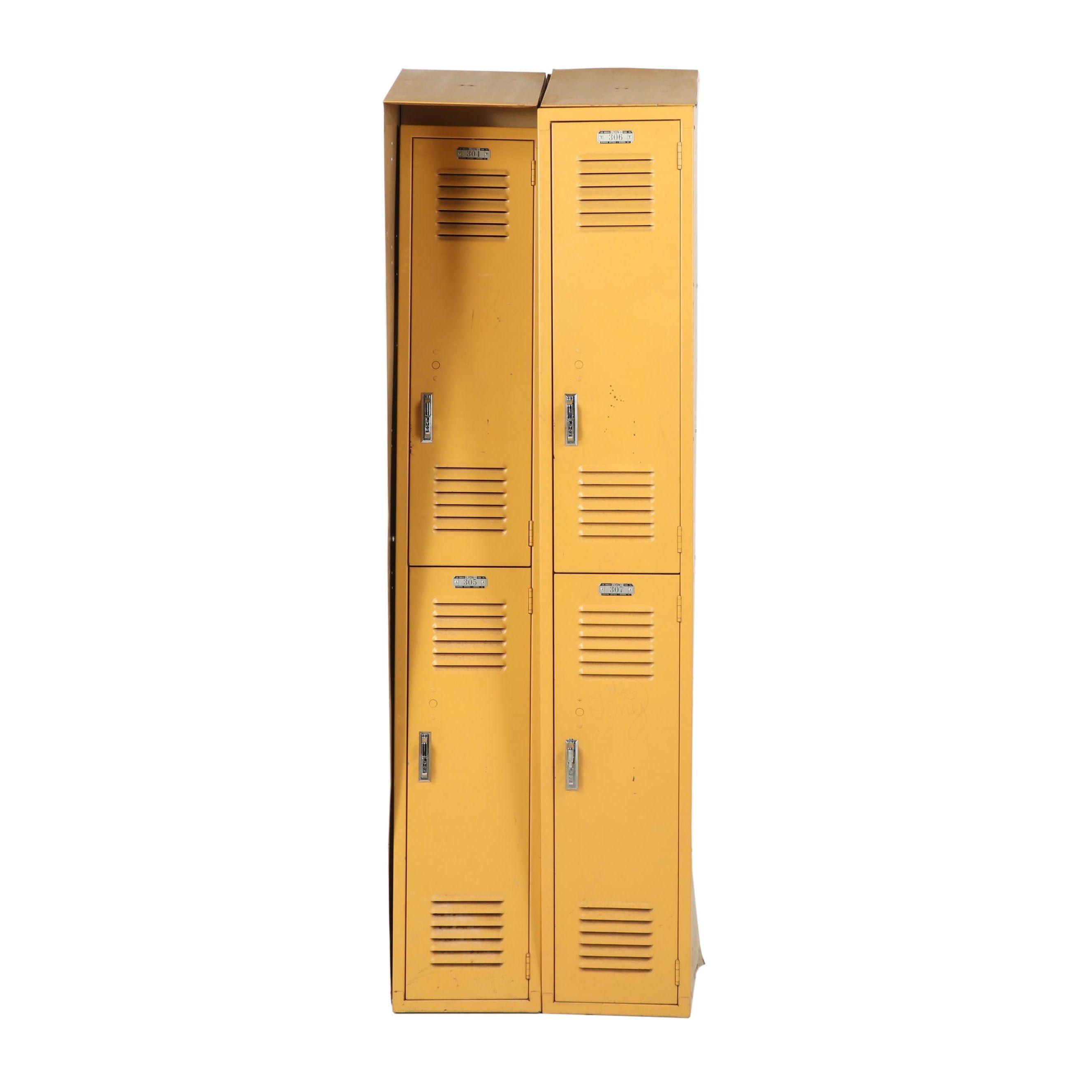 Vintage Lyon Metal Lockers