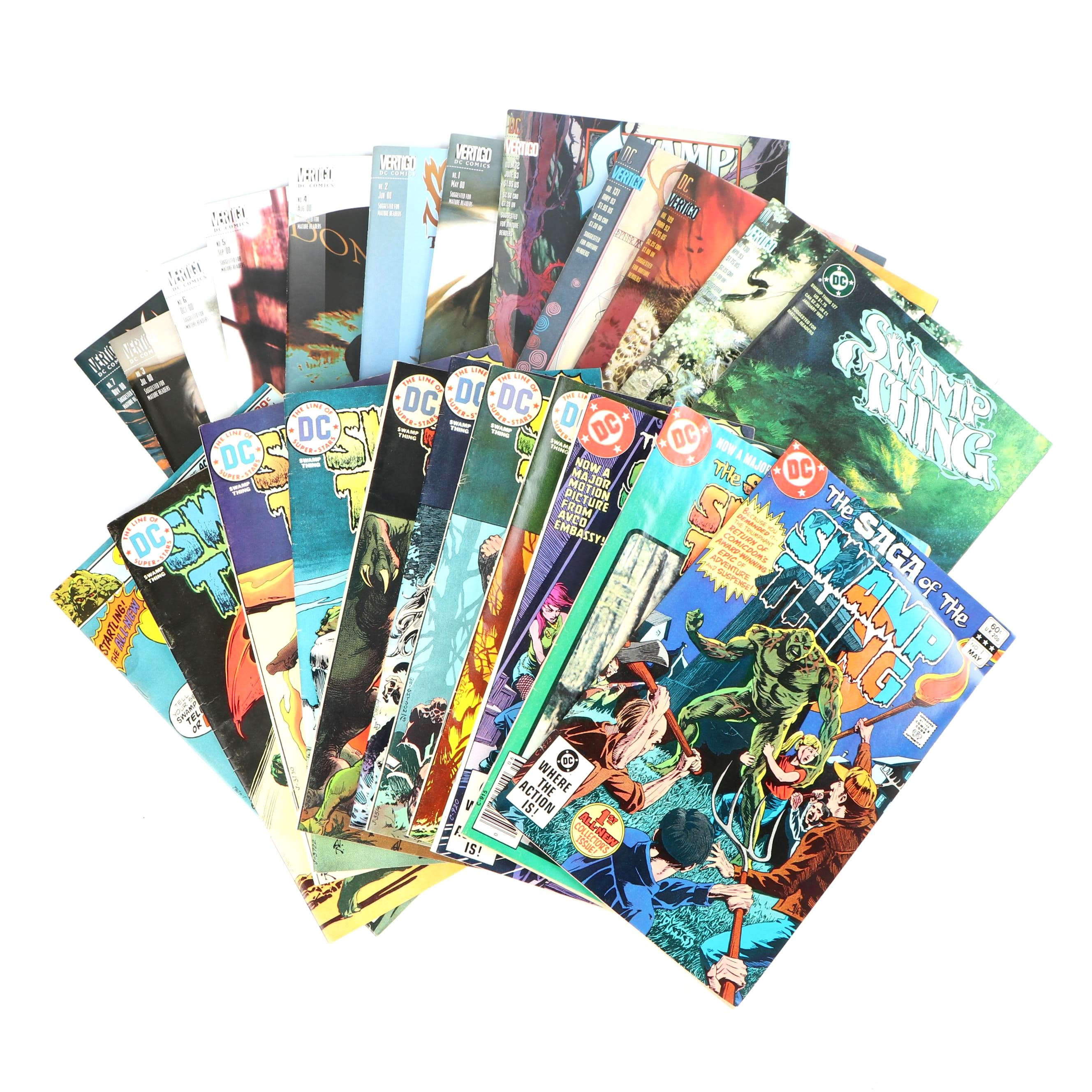 """Bronze and Modern Age """"Swamp Thing"""" Comic Books"""