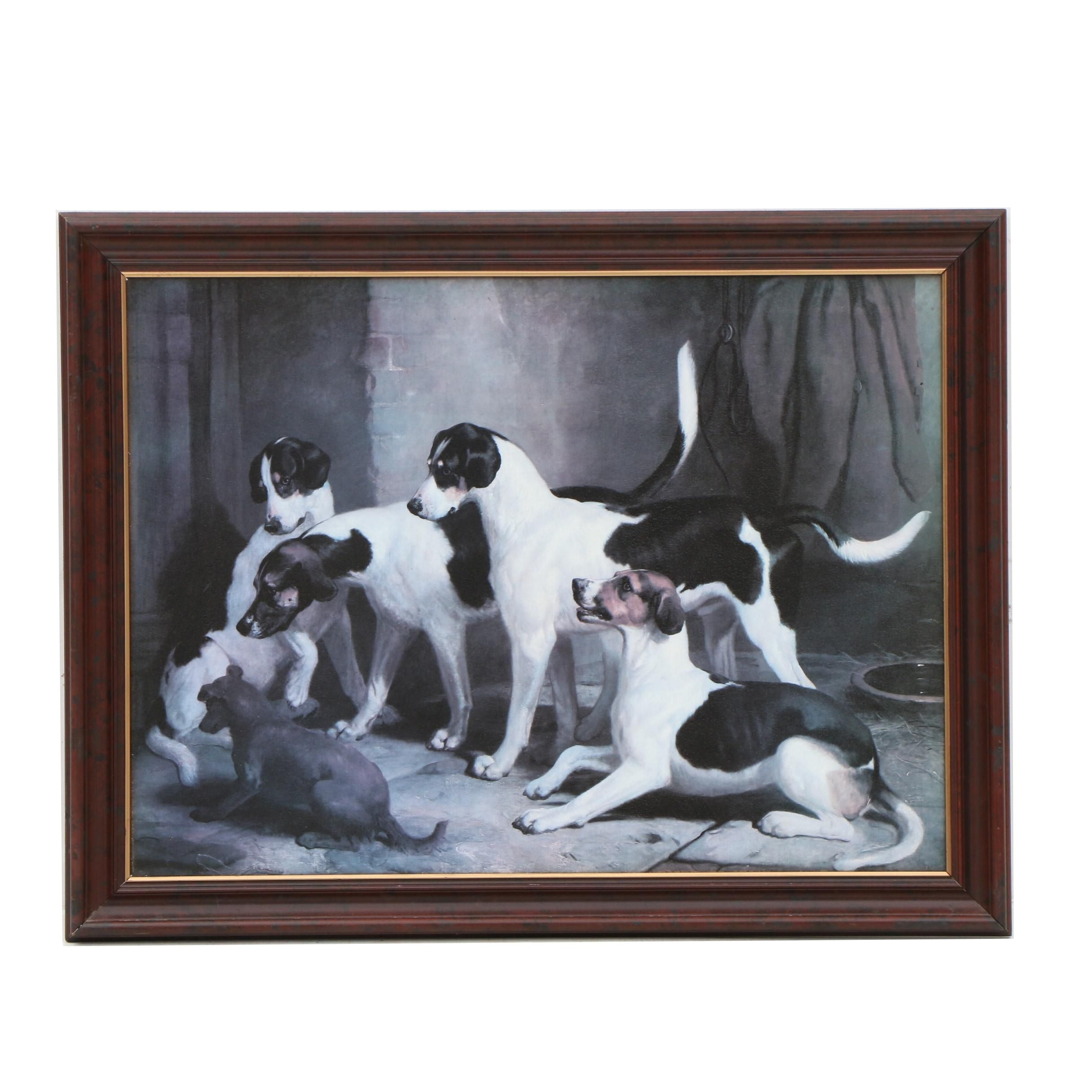 """Offset Lithograph After Thomas Woodward """"The Puckeridge Foxhounds"""""""