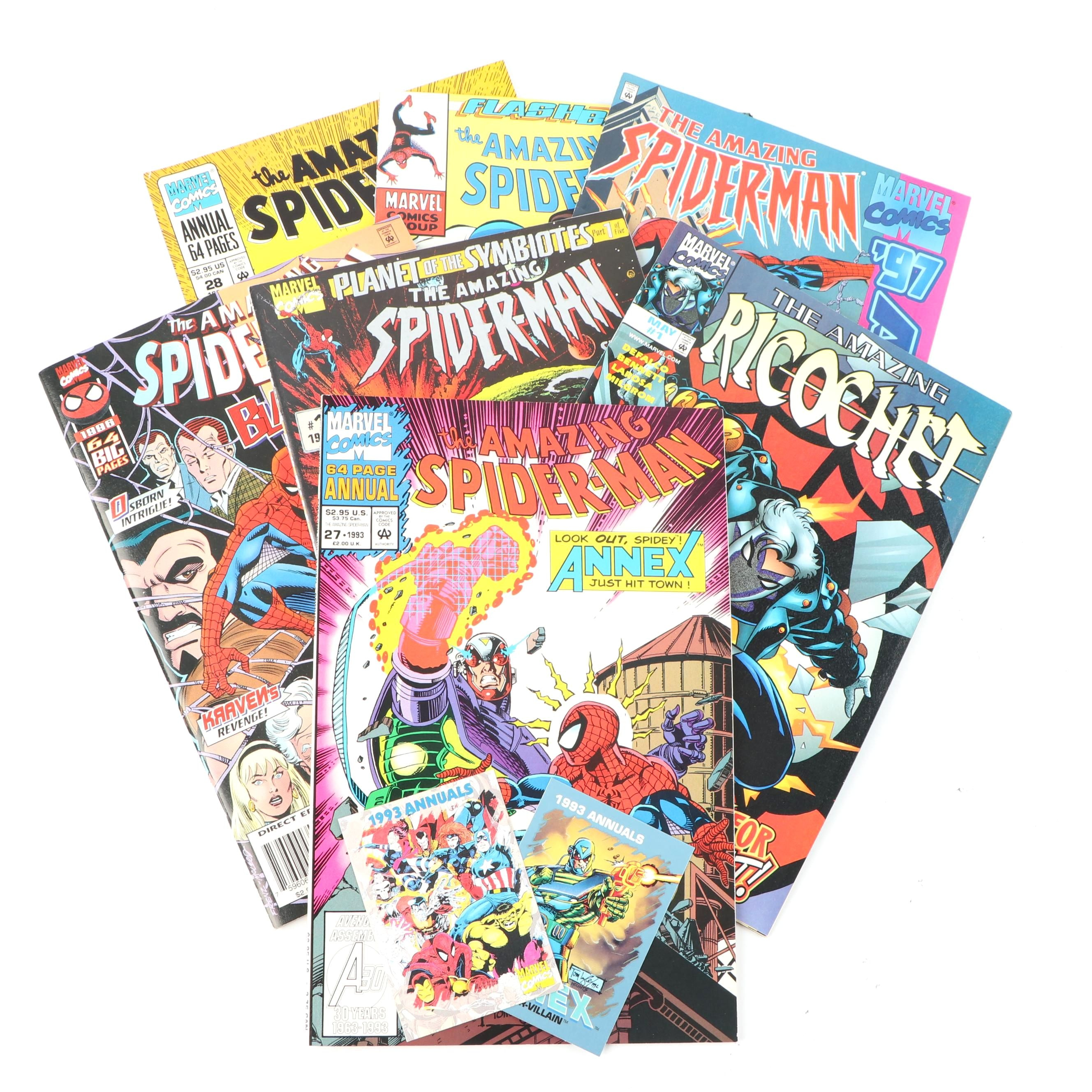 "Modern Age ""The Amazing Spider-Man"" and ""The Amazing Ricochet"" Comic Books"