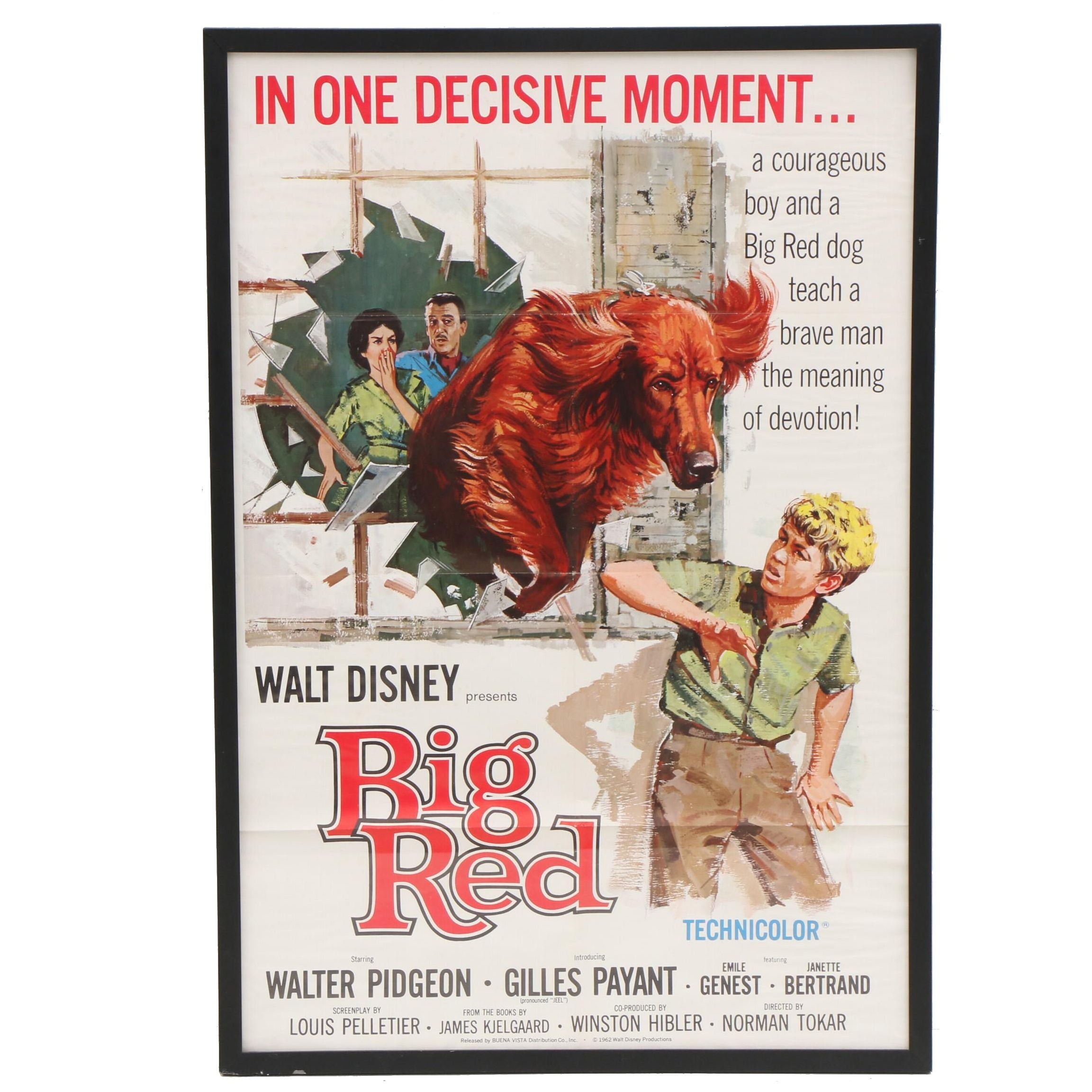 "Vintage ""Big Red"" Movie Poster"