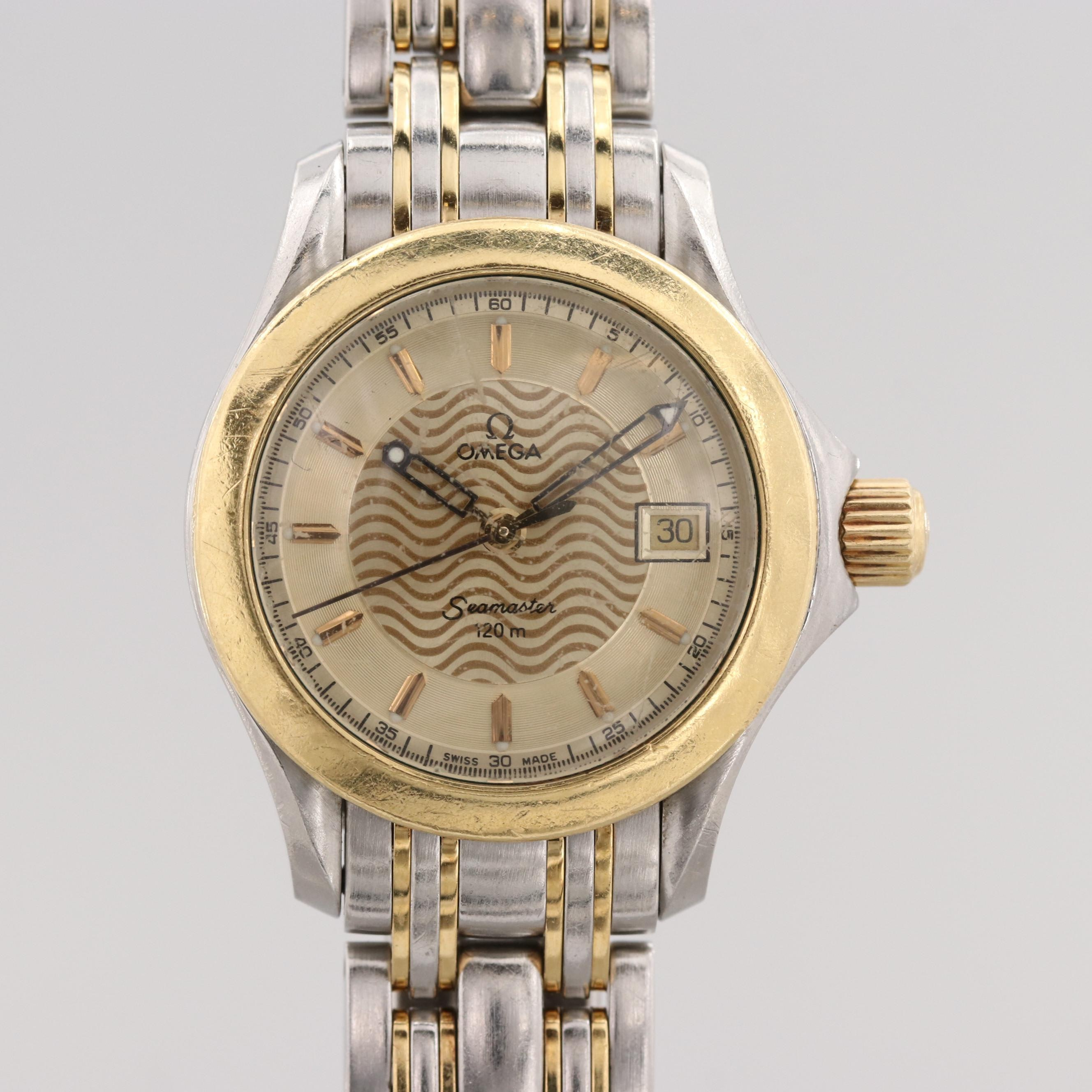 Omega Seamaster 120 Stainless Steel and 18K Yellow Gold Quartz Wristwatch