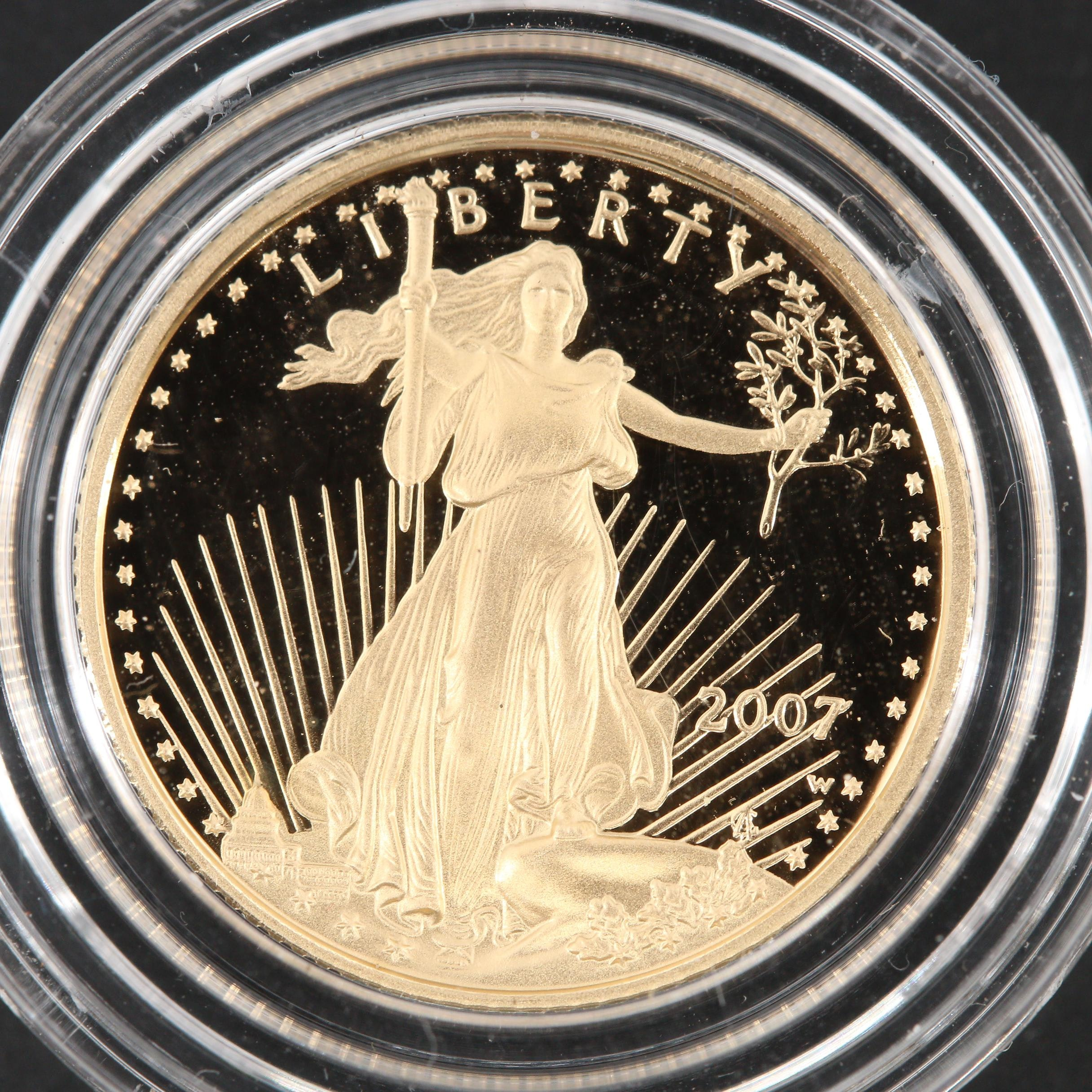 2007-W $5 Gold Eagle 1/10 Oz. Bullion Proof Coin