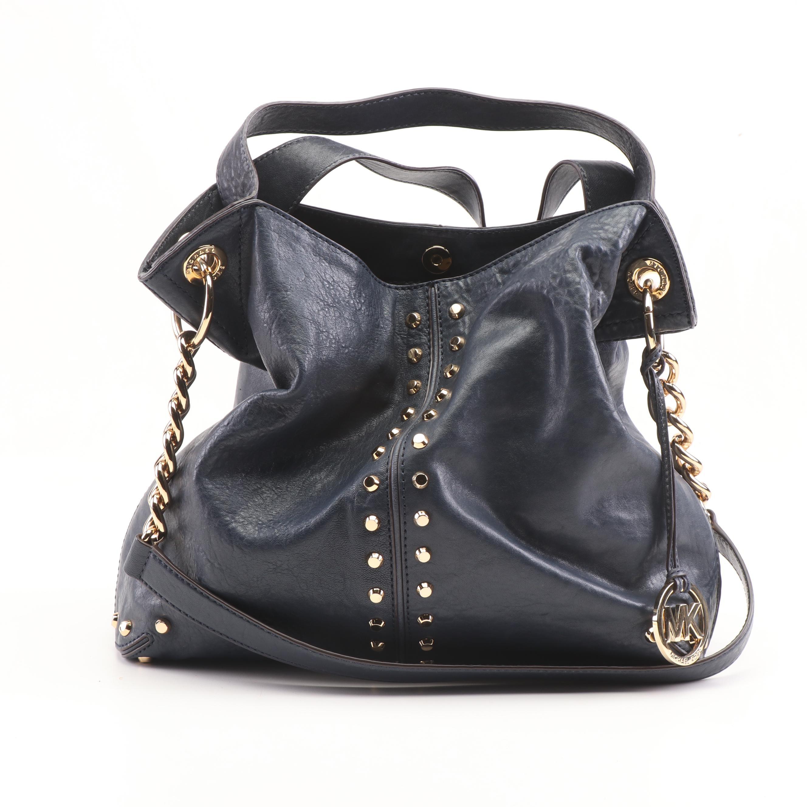 MICHAEL Michael Kors Studded Leather Convertible Handbag