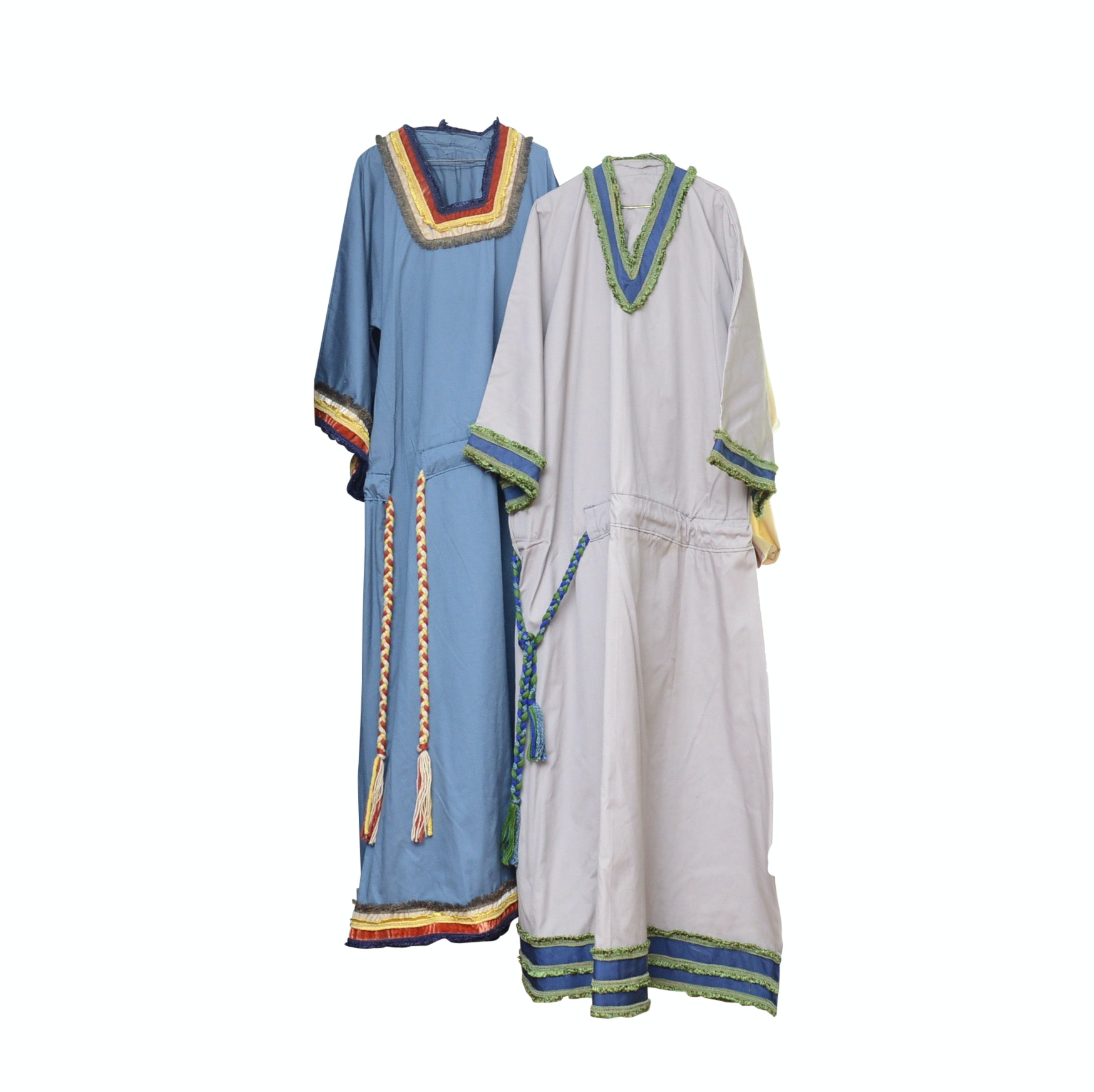 Pair of Handmade Drawstring Tunic Dresses
