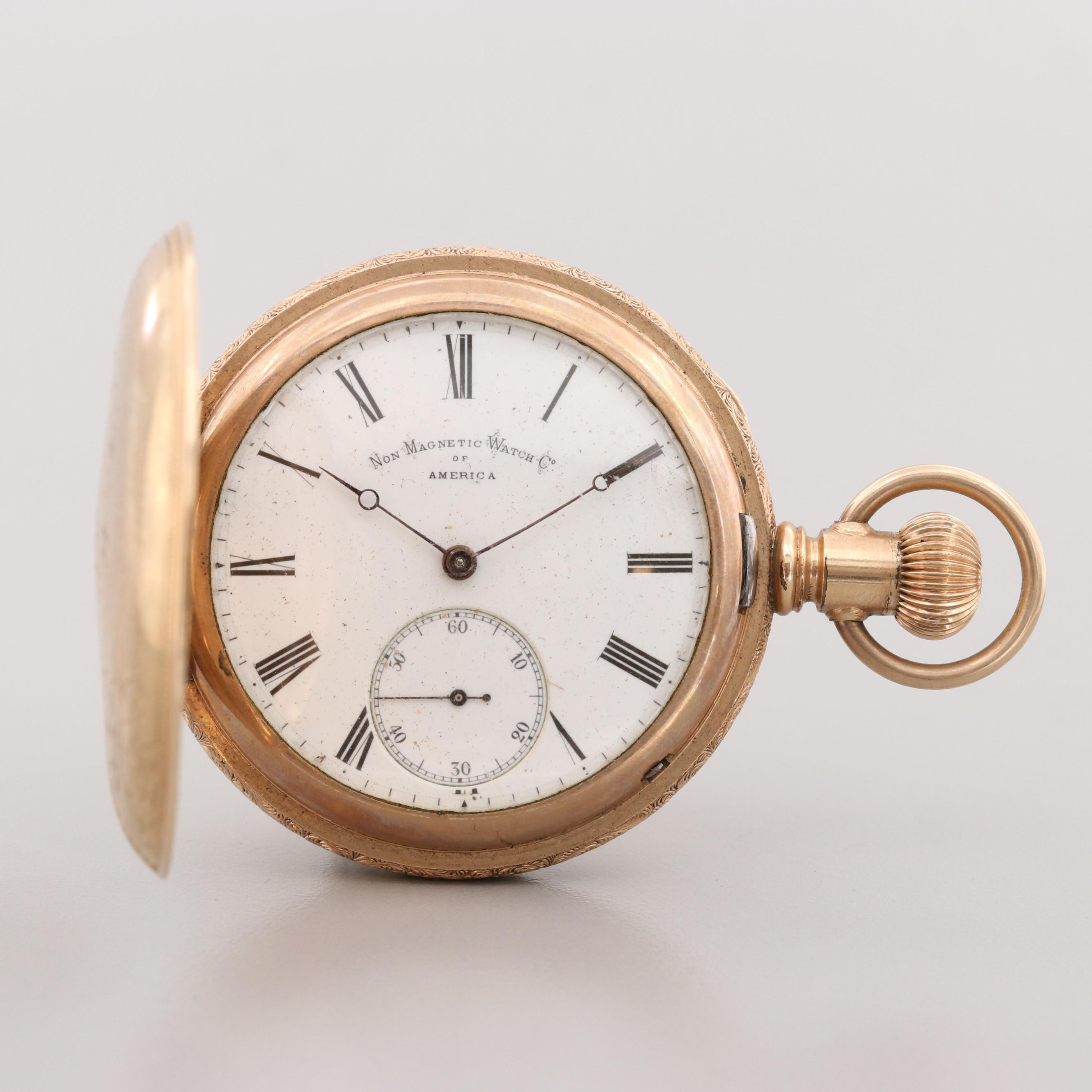 Antique Non Magnetic Watch Co. of America Pocket Watch