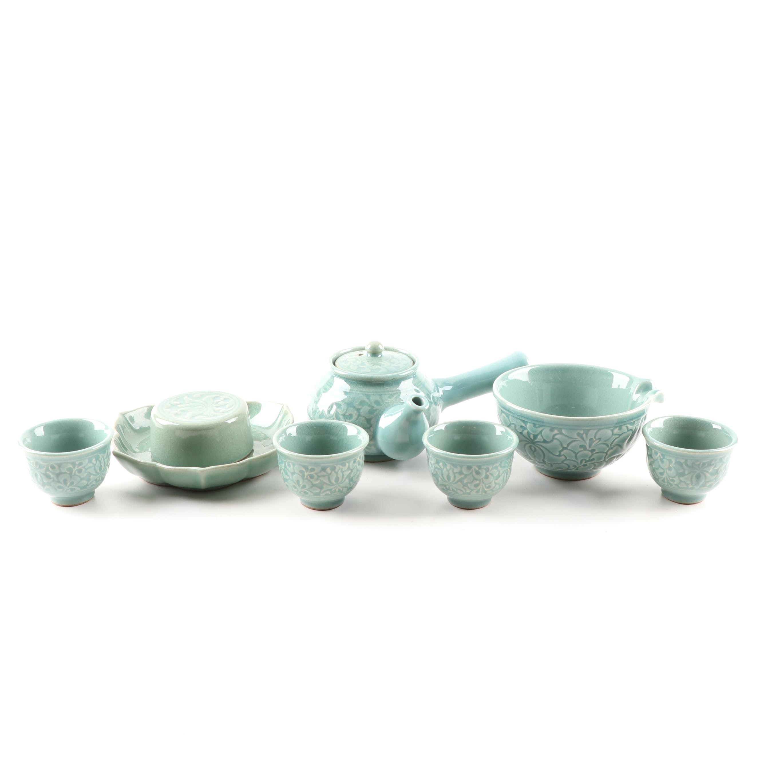 Korean Style Celadon Tea Service