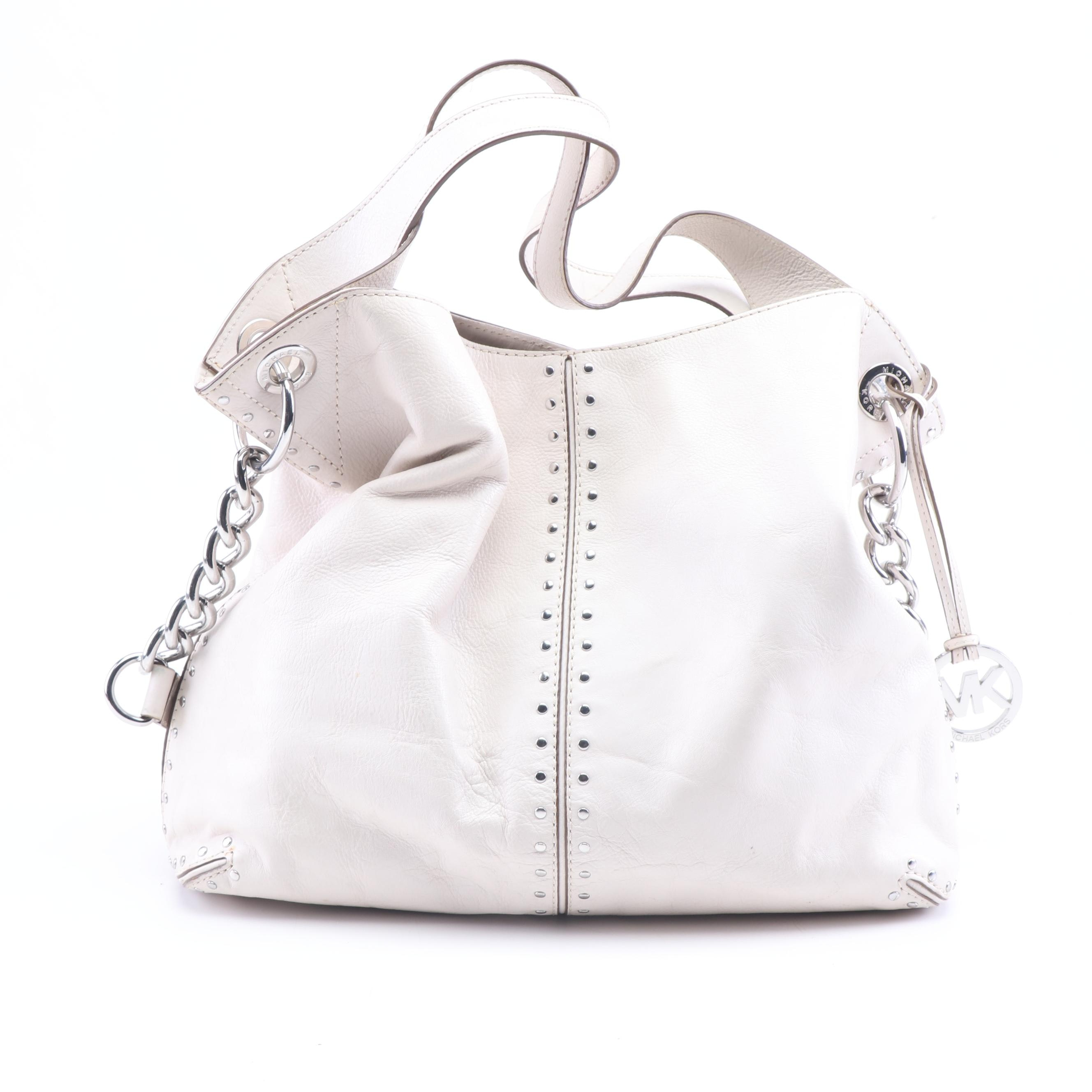 MICHAEL Michael Kors Studded Leather Convertible Hobo Bag