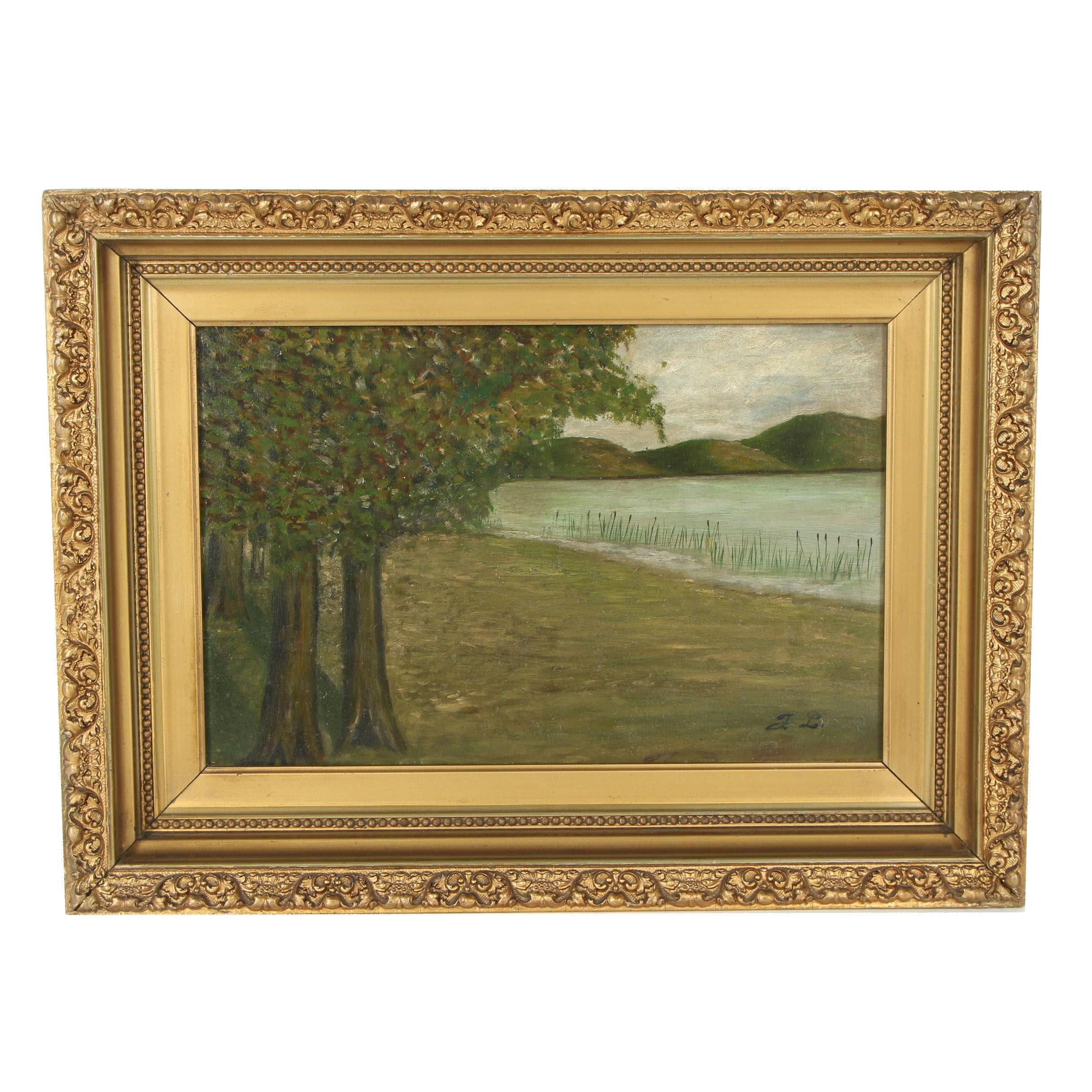 Late 20th Century Post-Impressionistic Landscape Oil Painting