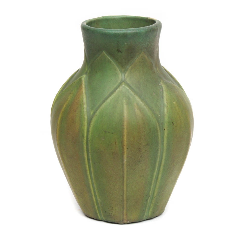 Grubey Style Arts and Crafts Earthenware Vase