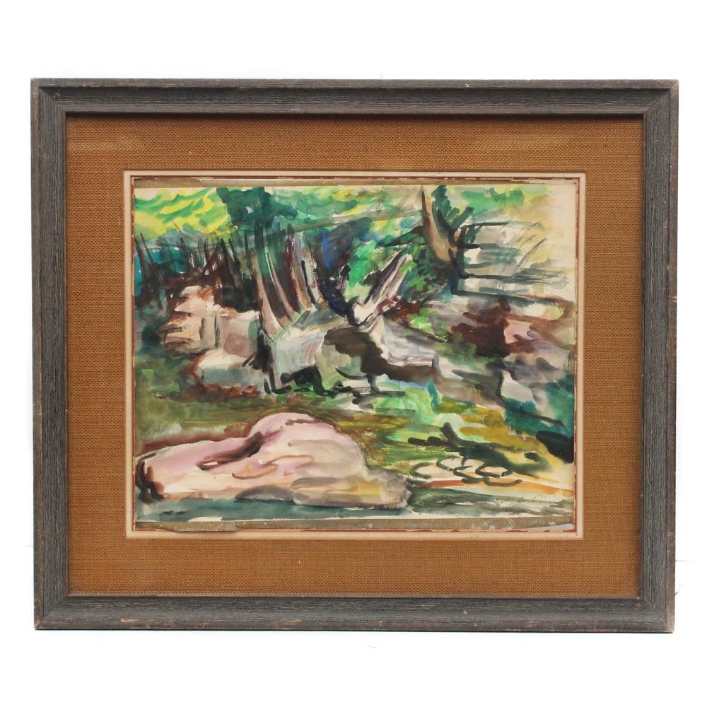 Yolanda Fusco Landscape Watercolor Painting