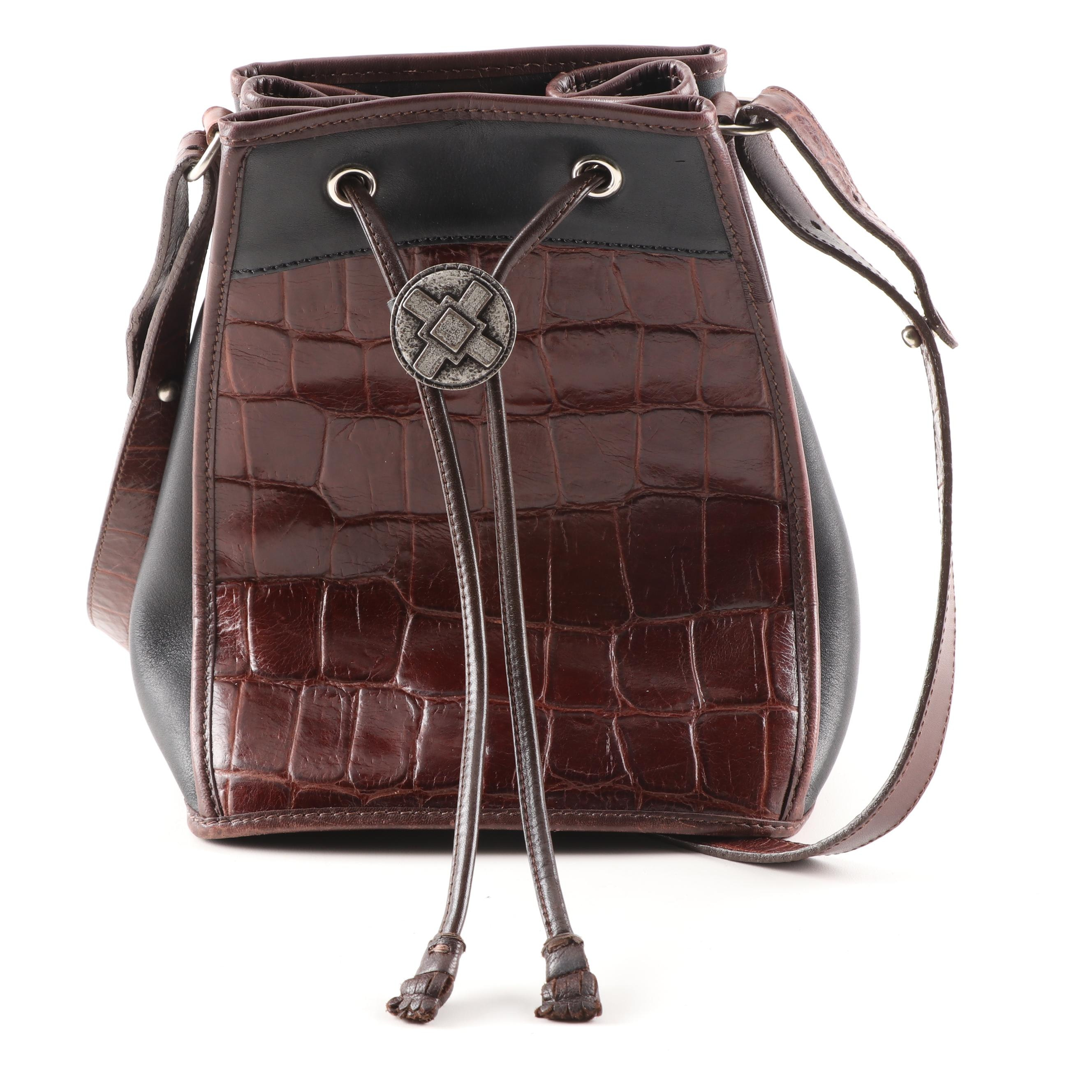Brahmin Embossed Leather Shoulder Bag
