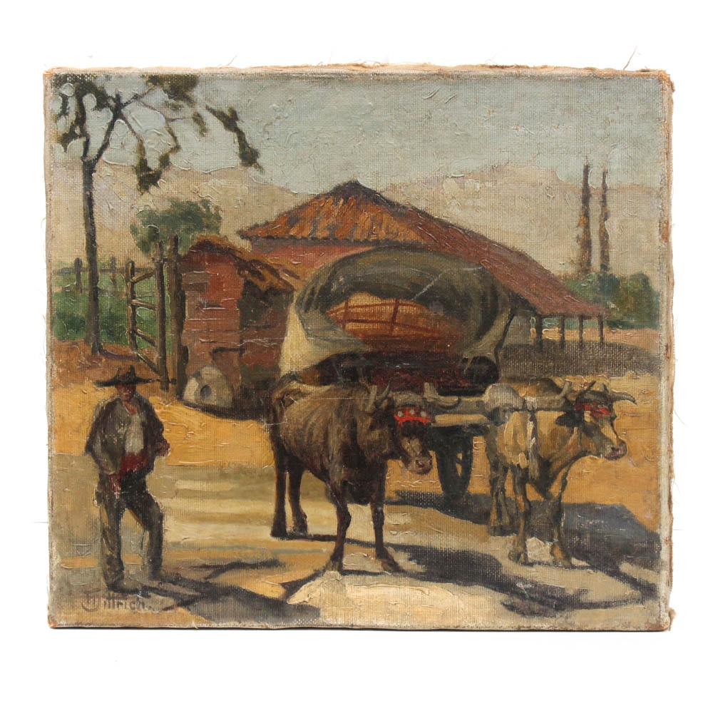 Late 19th Century T. Dittrich Oil Painting