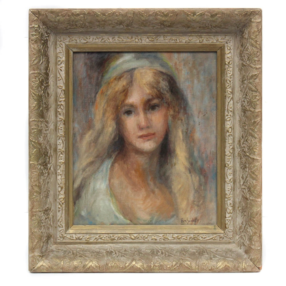 Ben Sunday Portrait Oil on Canvas