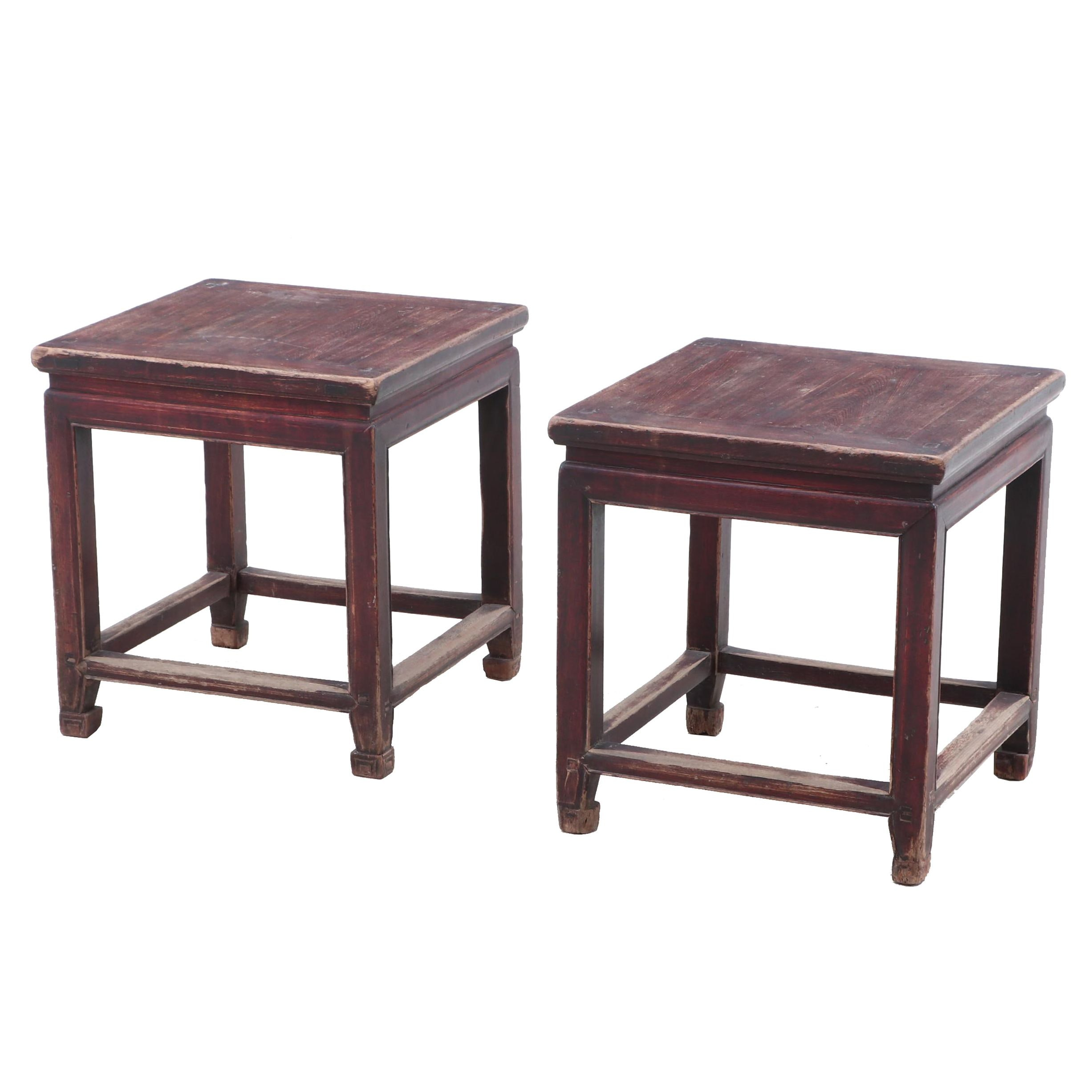 Pair of Antique Chinese Stools or Low Tables