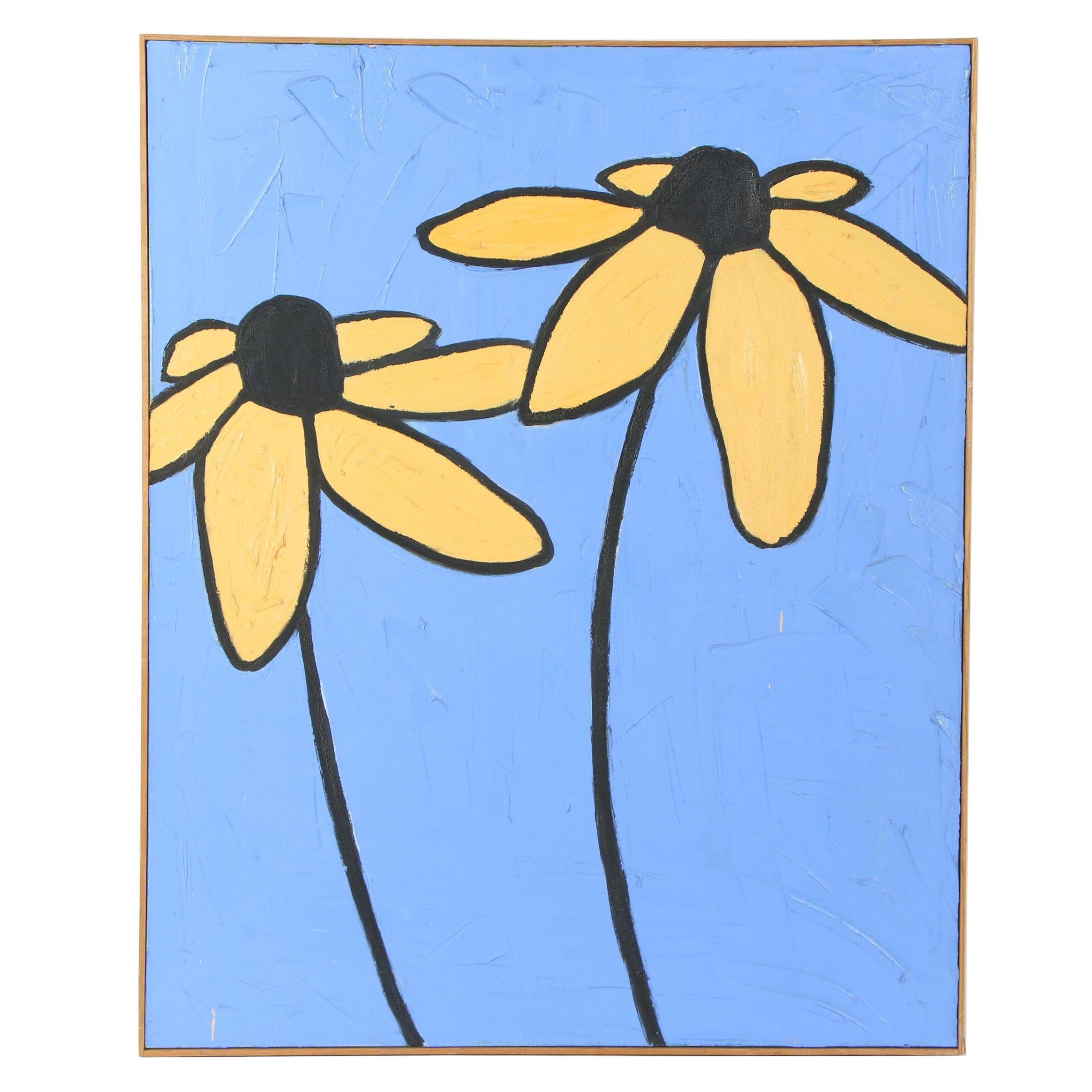 20th Century Floral Oil Paint