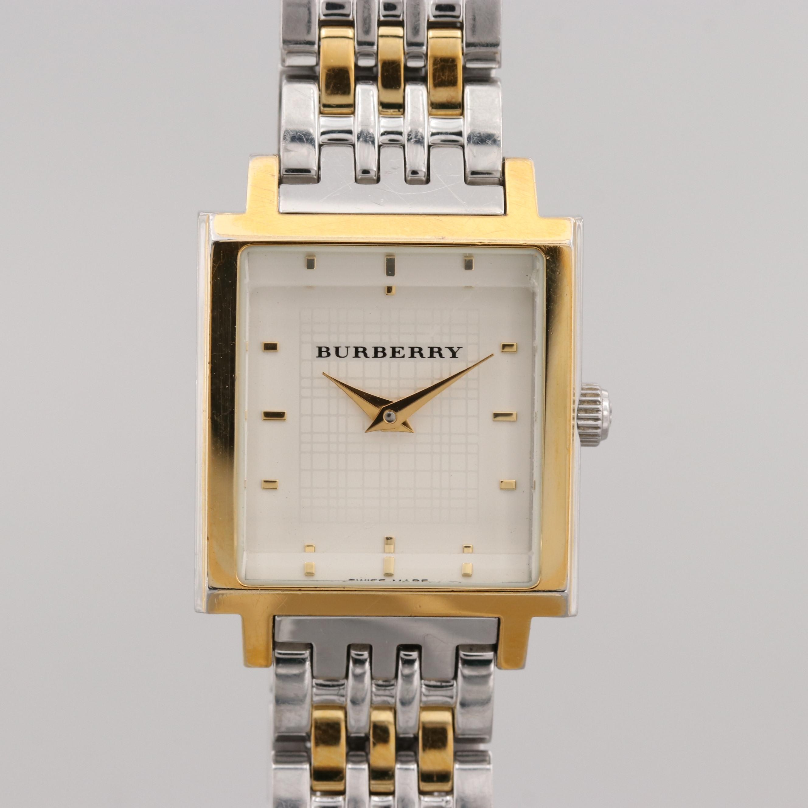 Burberry Stainless Steel Two Tone Wristwatch