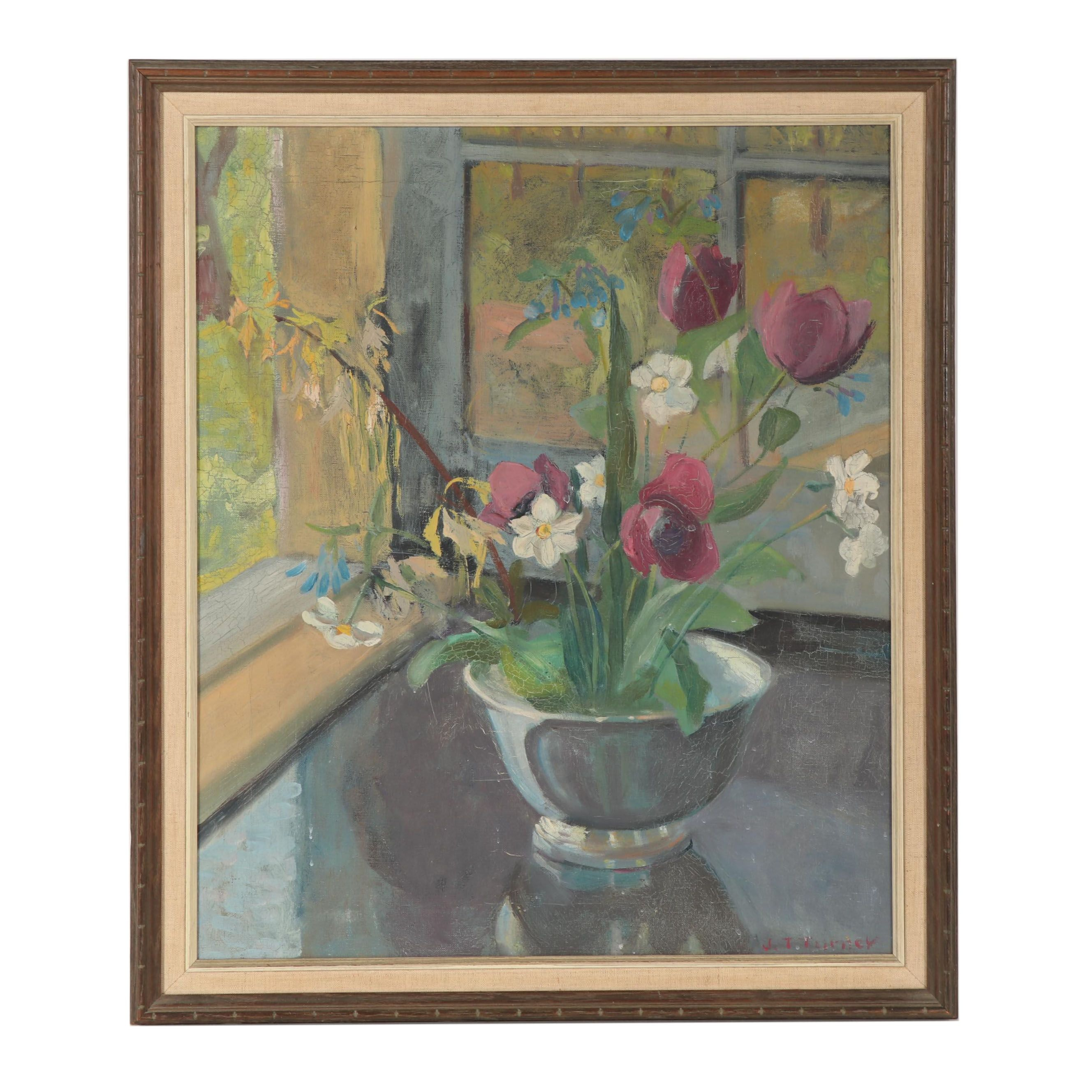 Early-Mid 20th Century Still Life Oil Painting