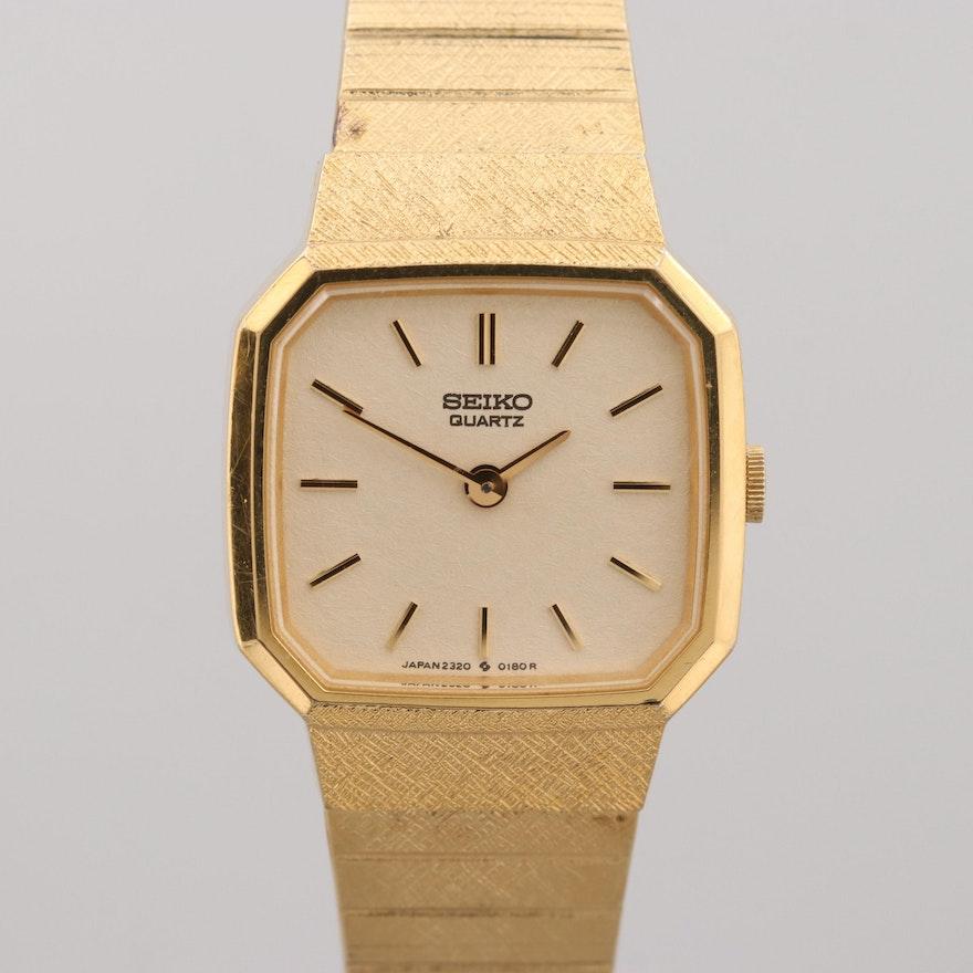 8e745277c74 Vintage Seiko Gold Tone Quartz Wristwatch