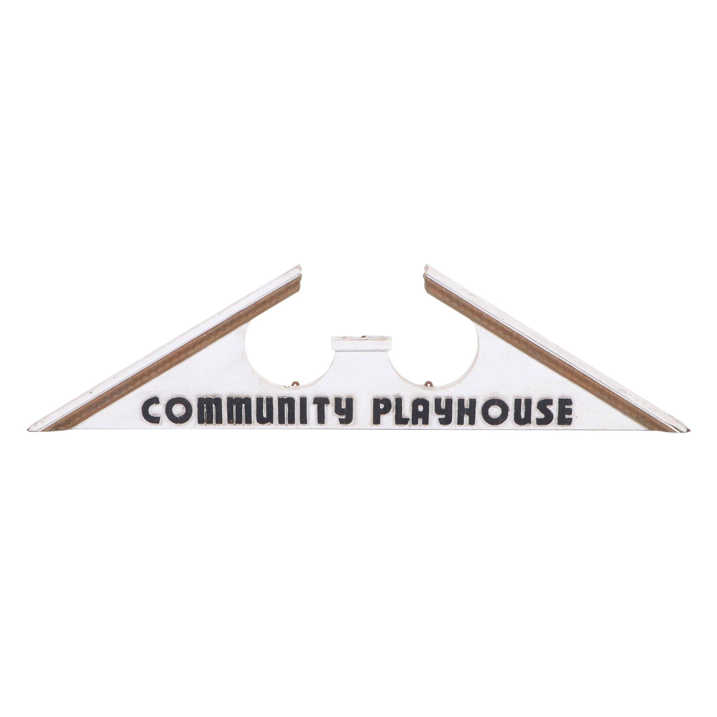 Community Playhouse Architectural Pediment Sign