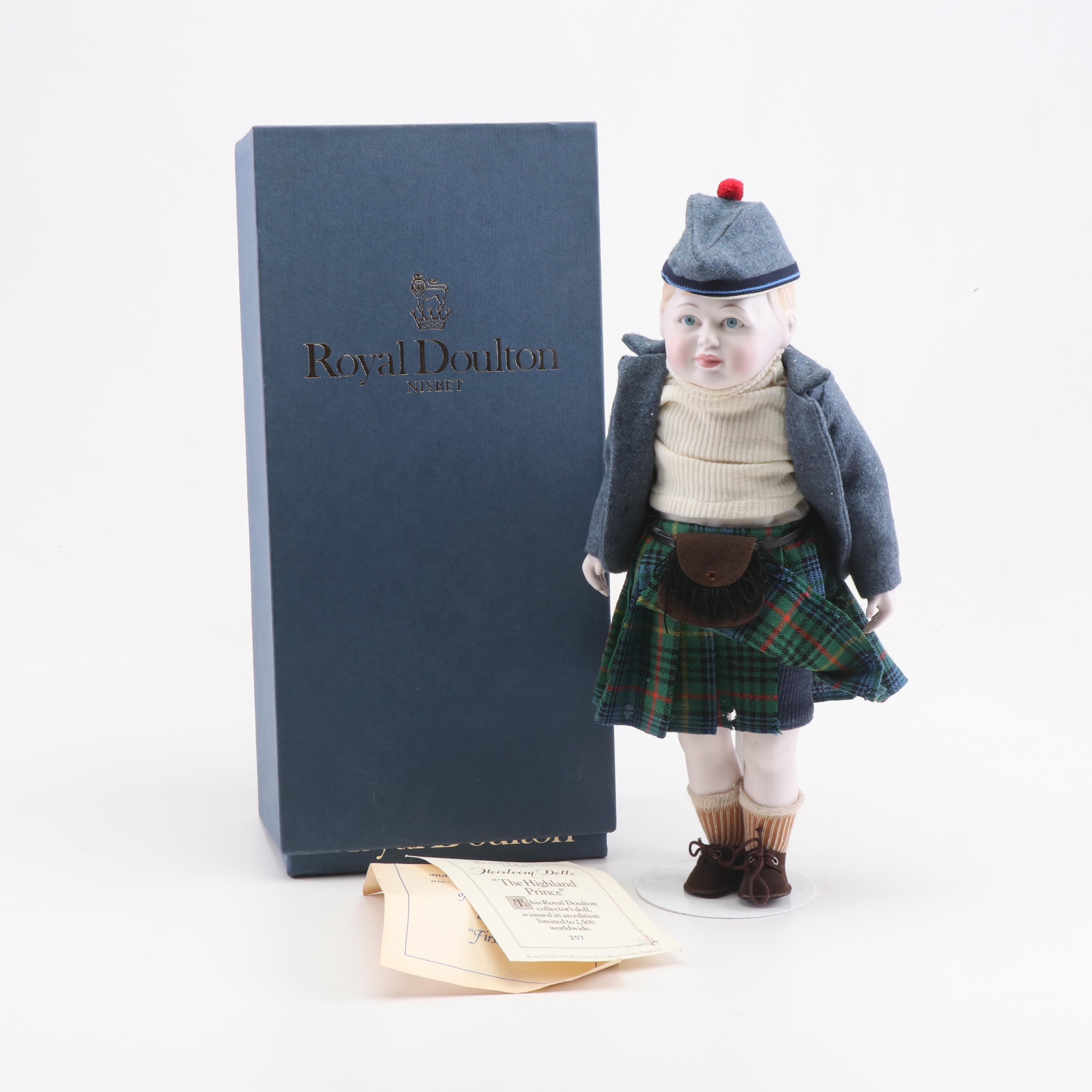 "Royal Doulton ""The Highland Prince"" Limited Edition Heirloom Doll"