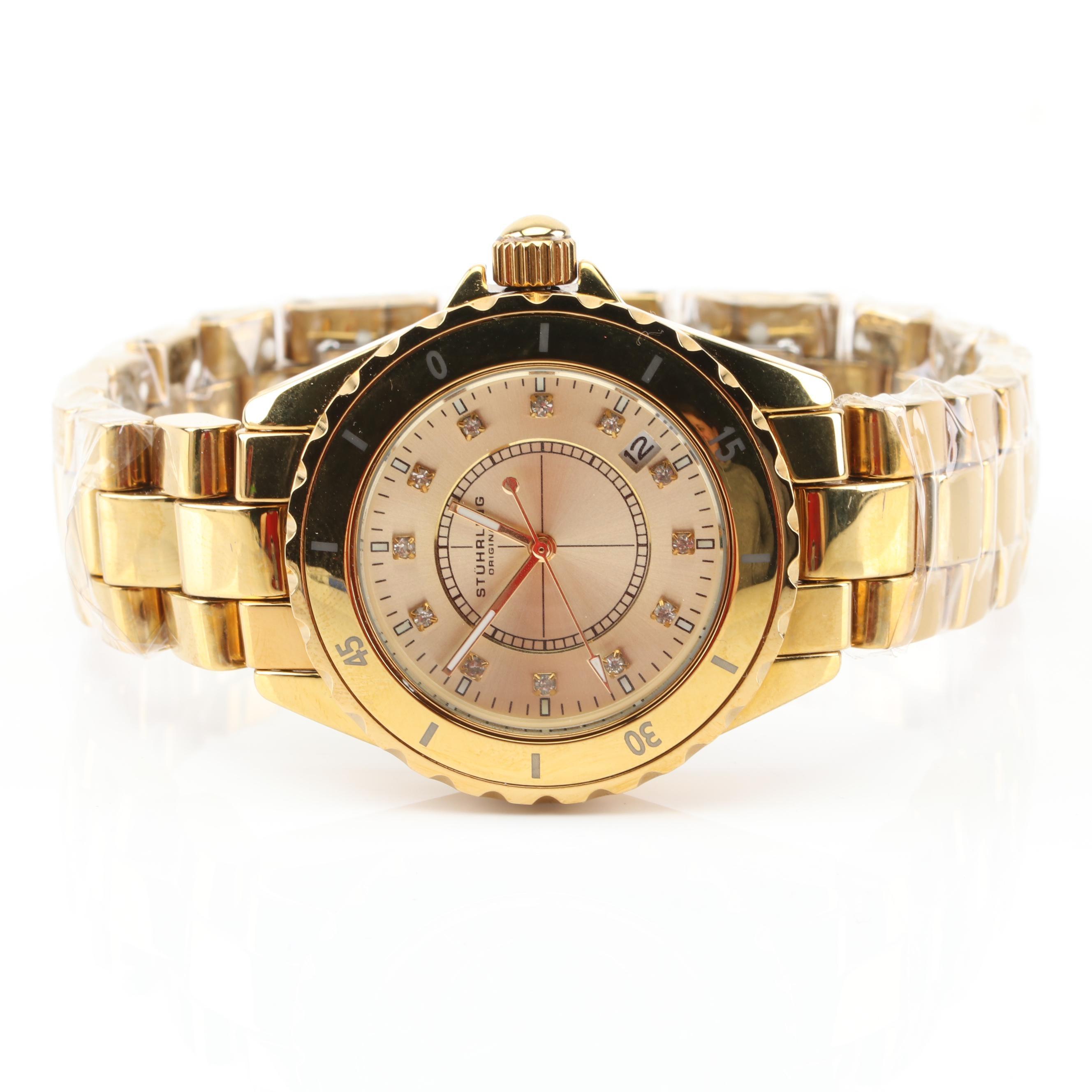 Stührling Gold Tone Wristwatch