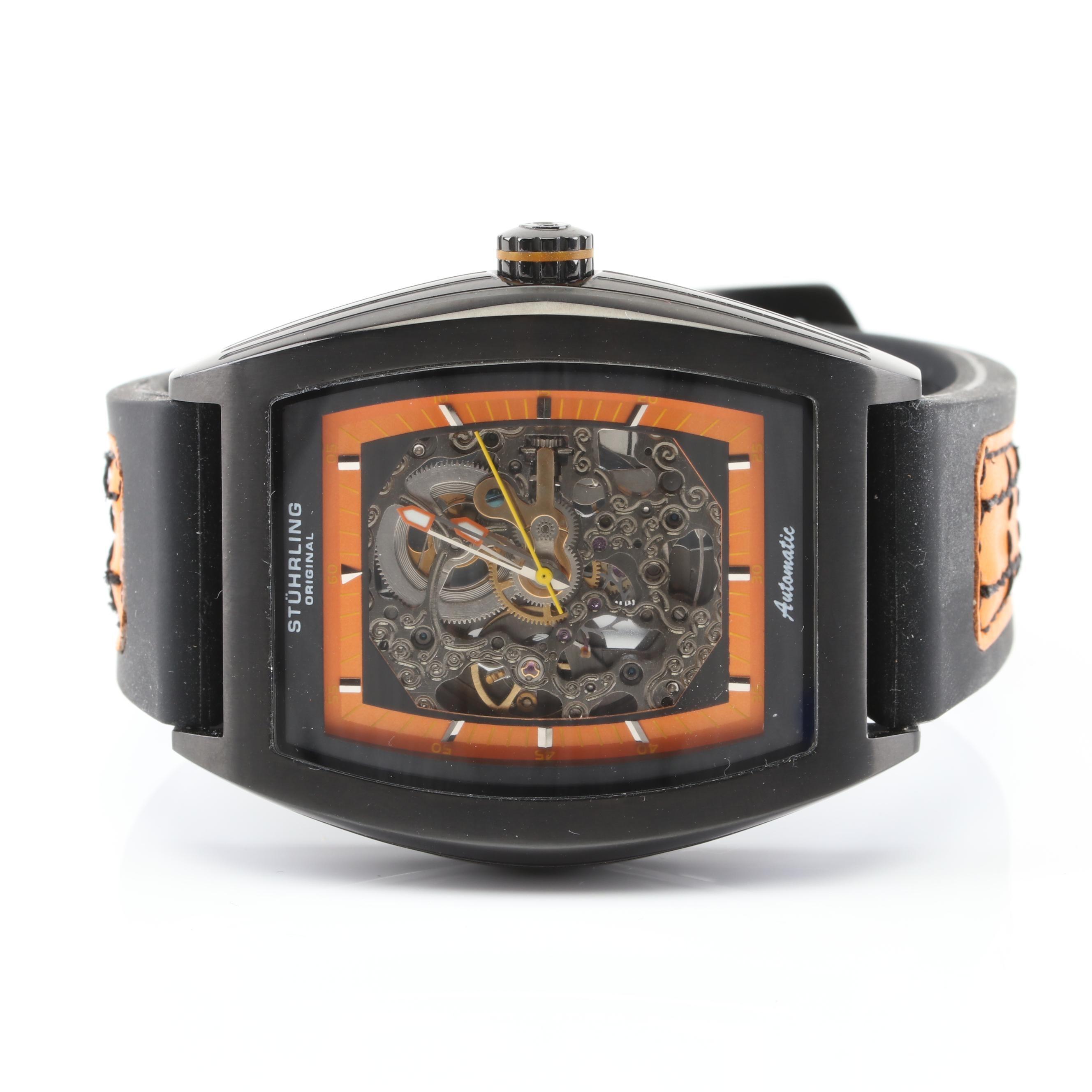 Stührling Skeleton Back Wristwatch