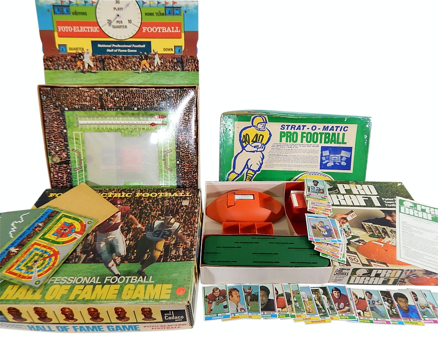 1970s Pro Draft Game, 1974 Topps Football Cards, 1970 Cadaco Pro Football Game