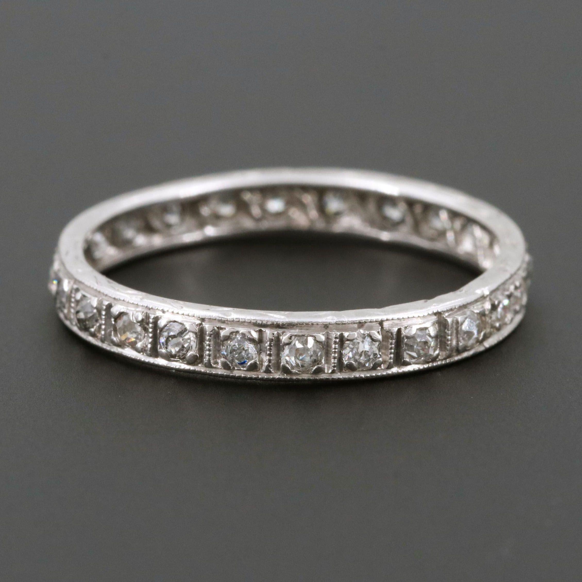 Art Deco Platinum Diamond Eternity Ring