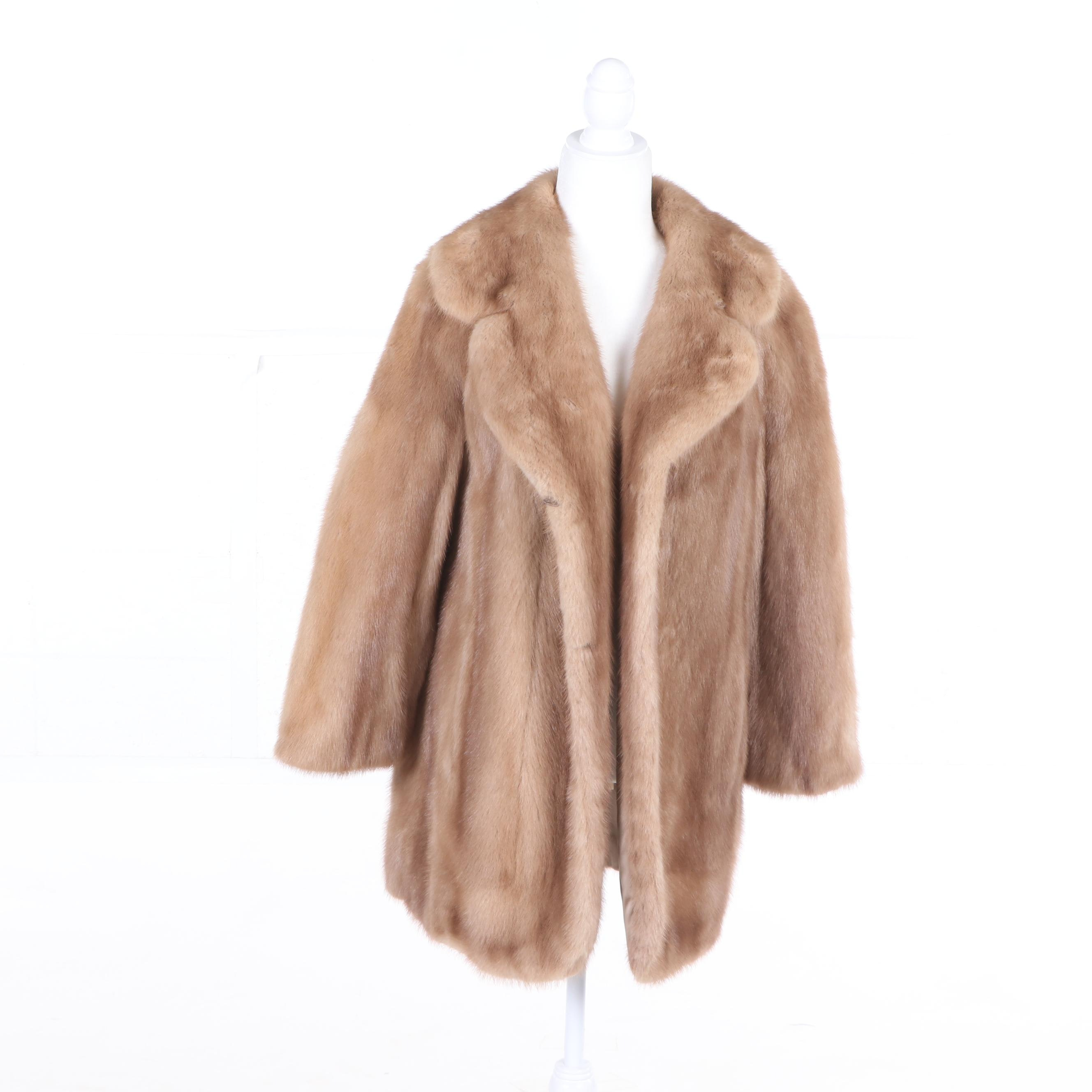 Women's Evans Furs Mink Fur Coat, Vintage