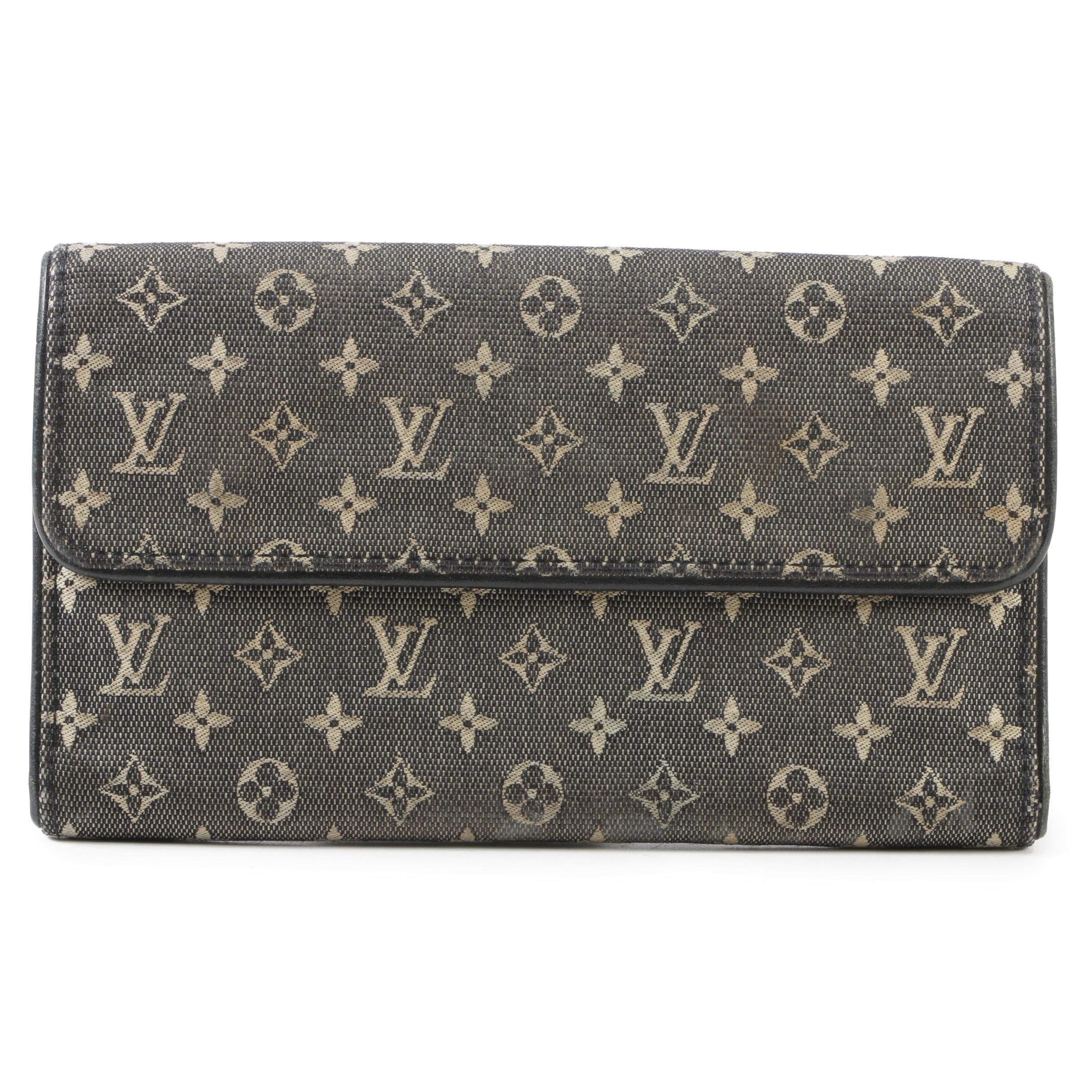 Louis Vuitton Paris Monogram Mini Lin Porte-Tresor International Wallet