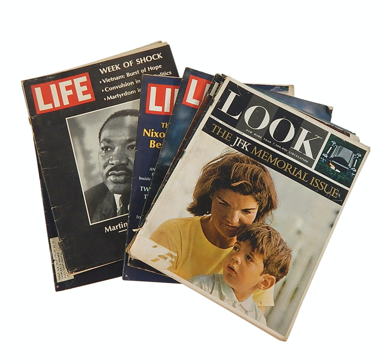 """""""Life"""" and """"Look Magazines with Kennedy, Martin Luther King Covers, 1964 to 1967"""