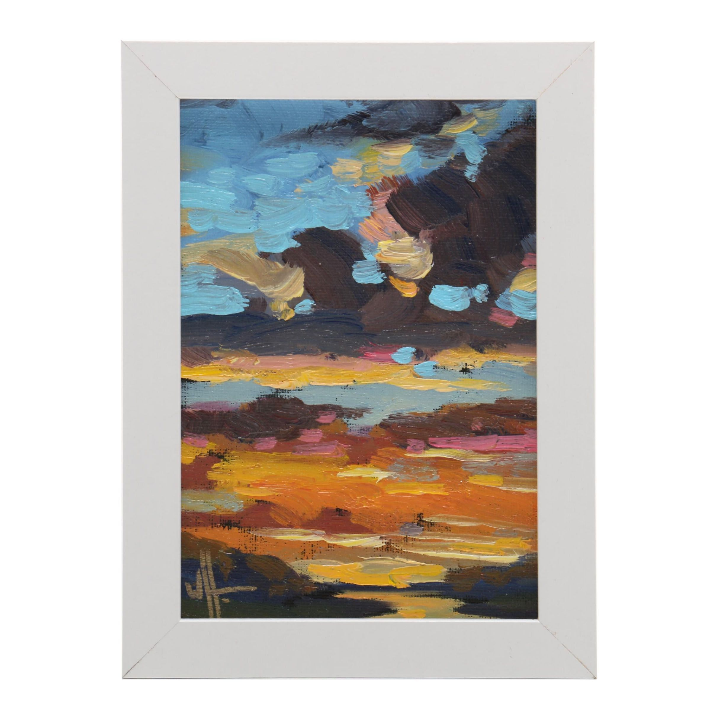 William Hawkins Oil Painting of Sunset