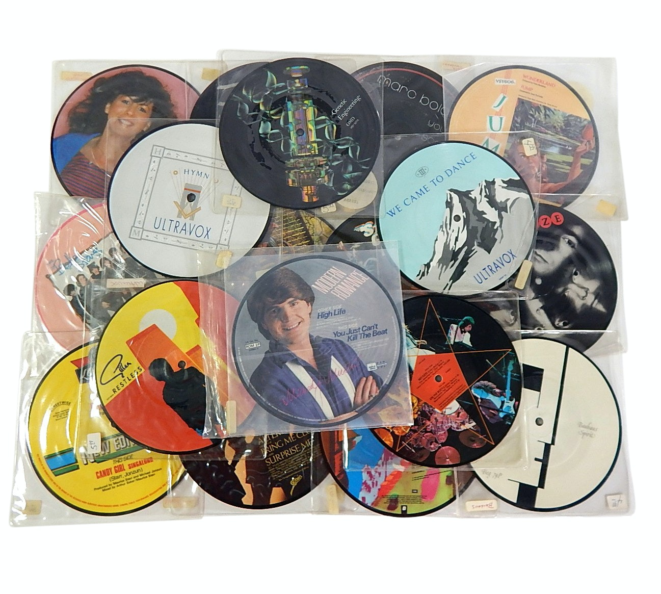 1980s 45 RPM Picture Disc Record Albums with Ultravox, OMD, Gillan