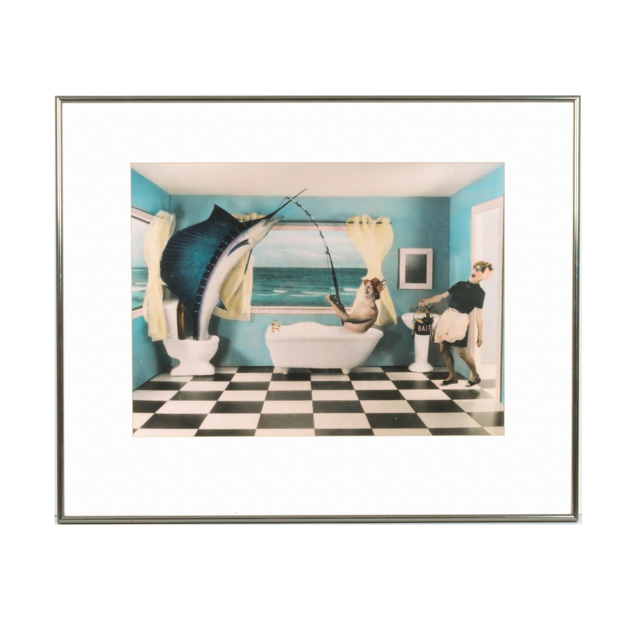 "Michael Combs Photographic Print ""Bathtub Fisherman"""
