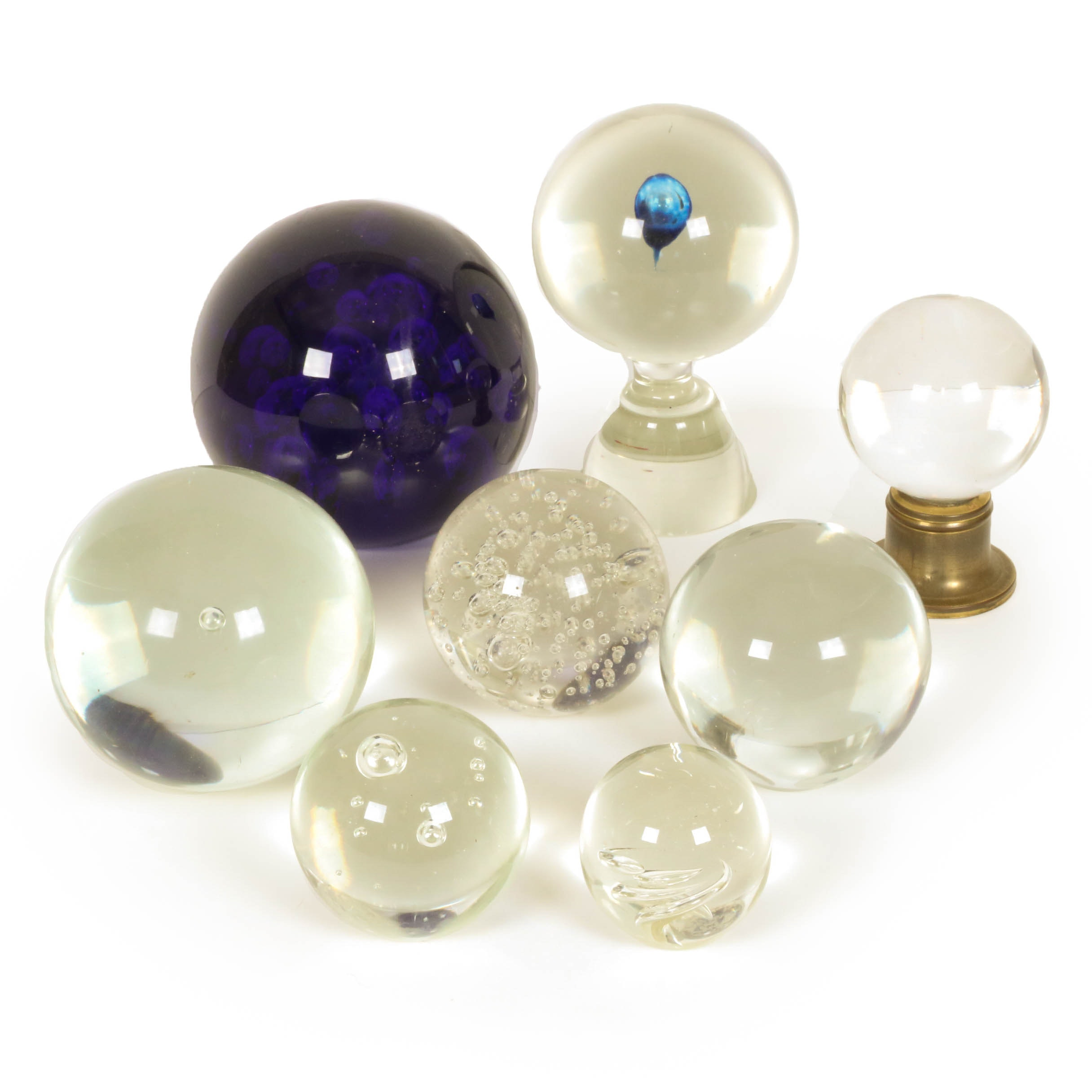 Blown Glass Paperweights Including Murano